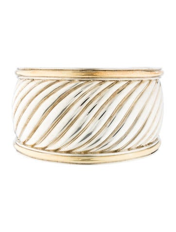 David Yurman Two-Tone Sculpted Cable Cuff Bracelet