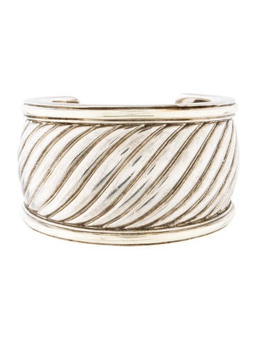 David Yurman Sculpted Wide Cuff
