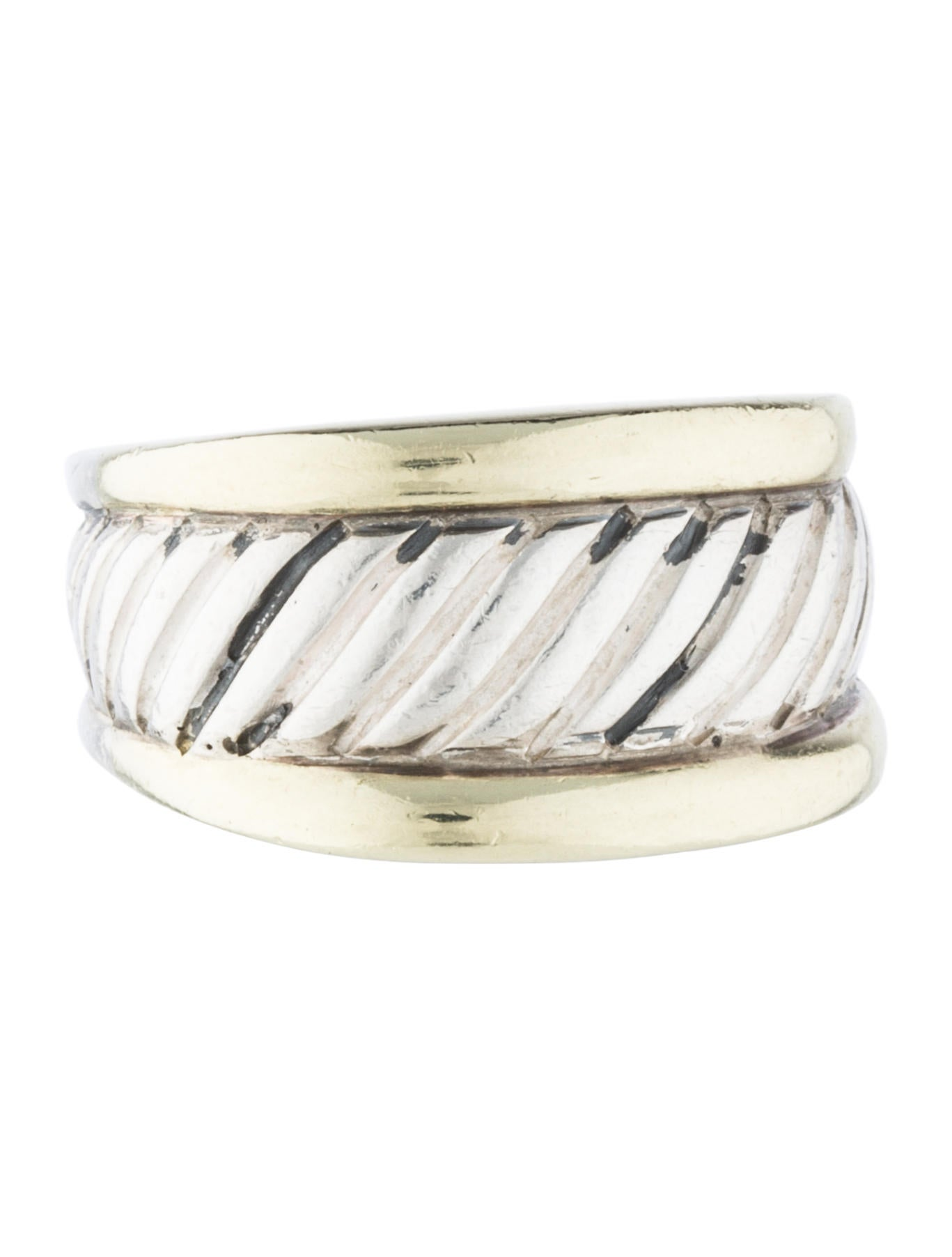 David yurman two tone cable ring rings dvy37256 the for David yurman inspired jewelry rings