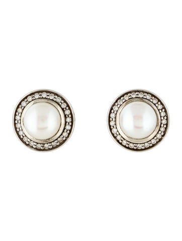David Yurman Pearl & Diamond Cerise Earrings