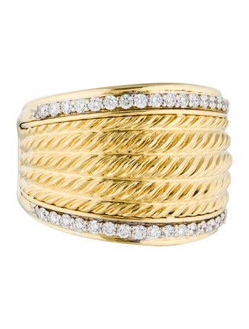 David Yurman 18K Diamond Lantana Ring