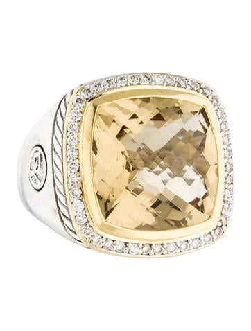 David Yurman Two-Tone Citrine & Diamond Albion Ring