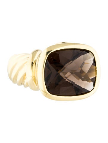 David Yurman 18K Smoky Quartz Ring
