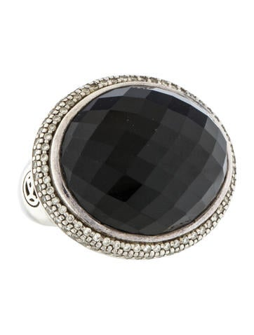 David Yurman Onyx & Diamond Ring