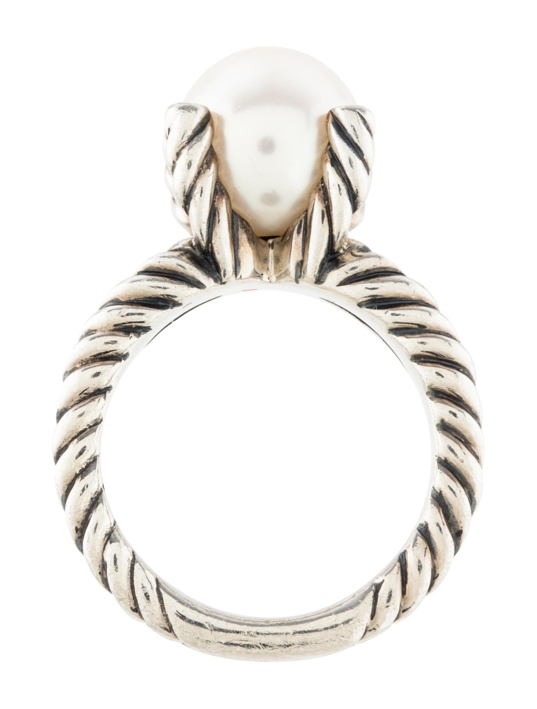 david yurman pearl cable ring rings dvy37487