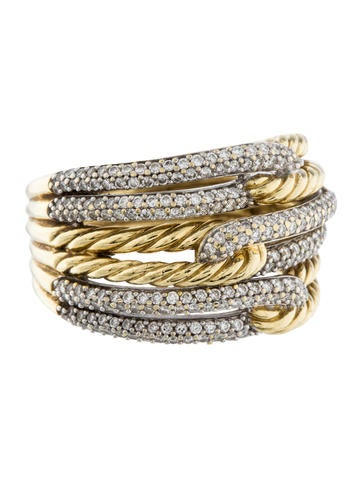 David Yurman Labyrinth Triple-Loop Diamond Ring