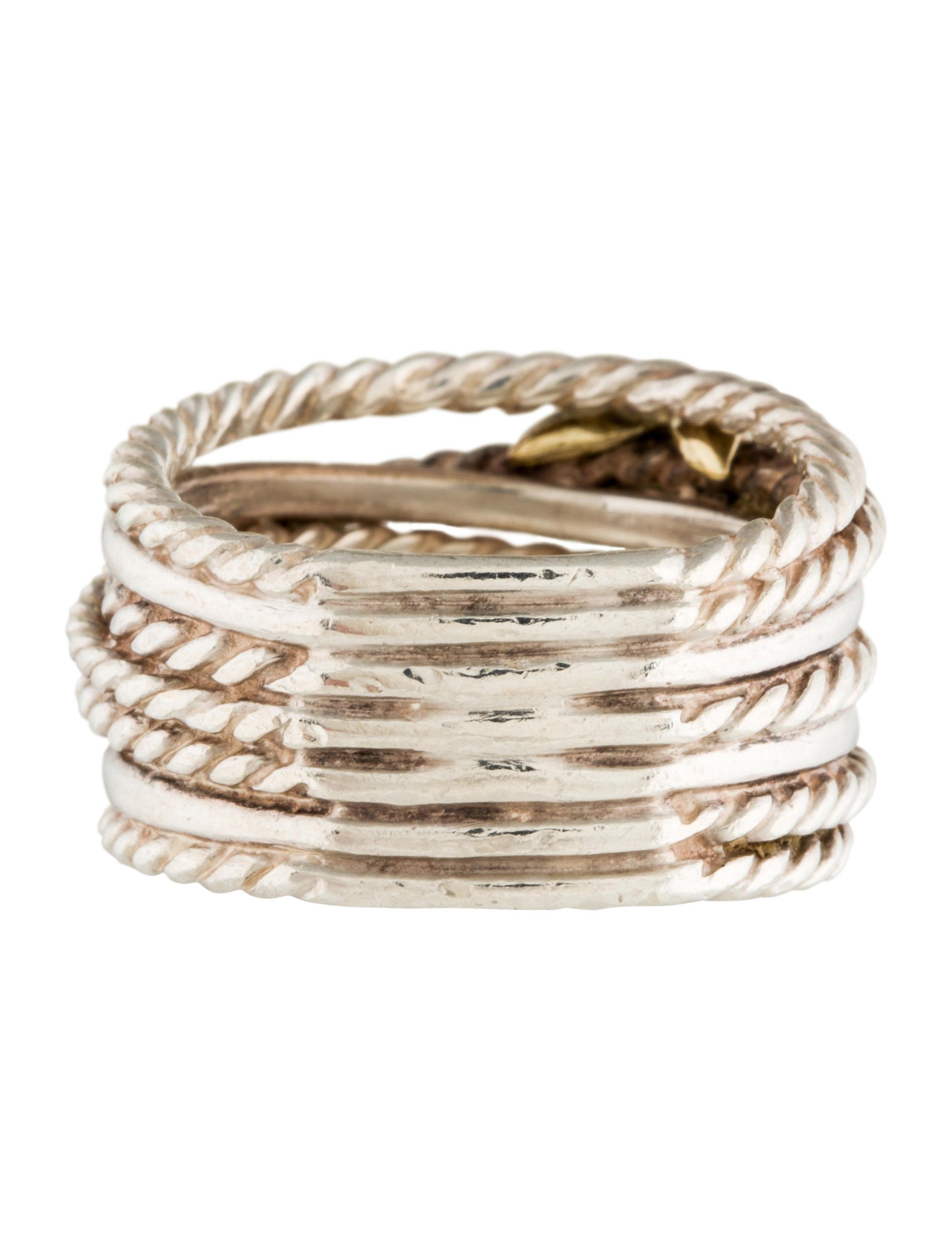 David yurman double x crossover ring rings dvy37547 for David yurman inspired jewelry rings