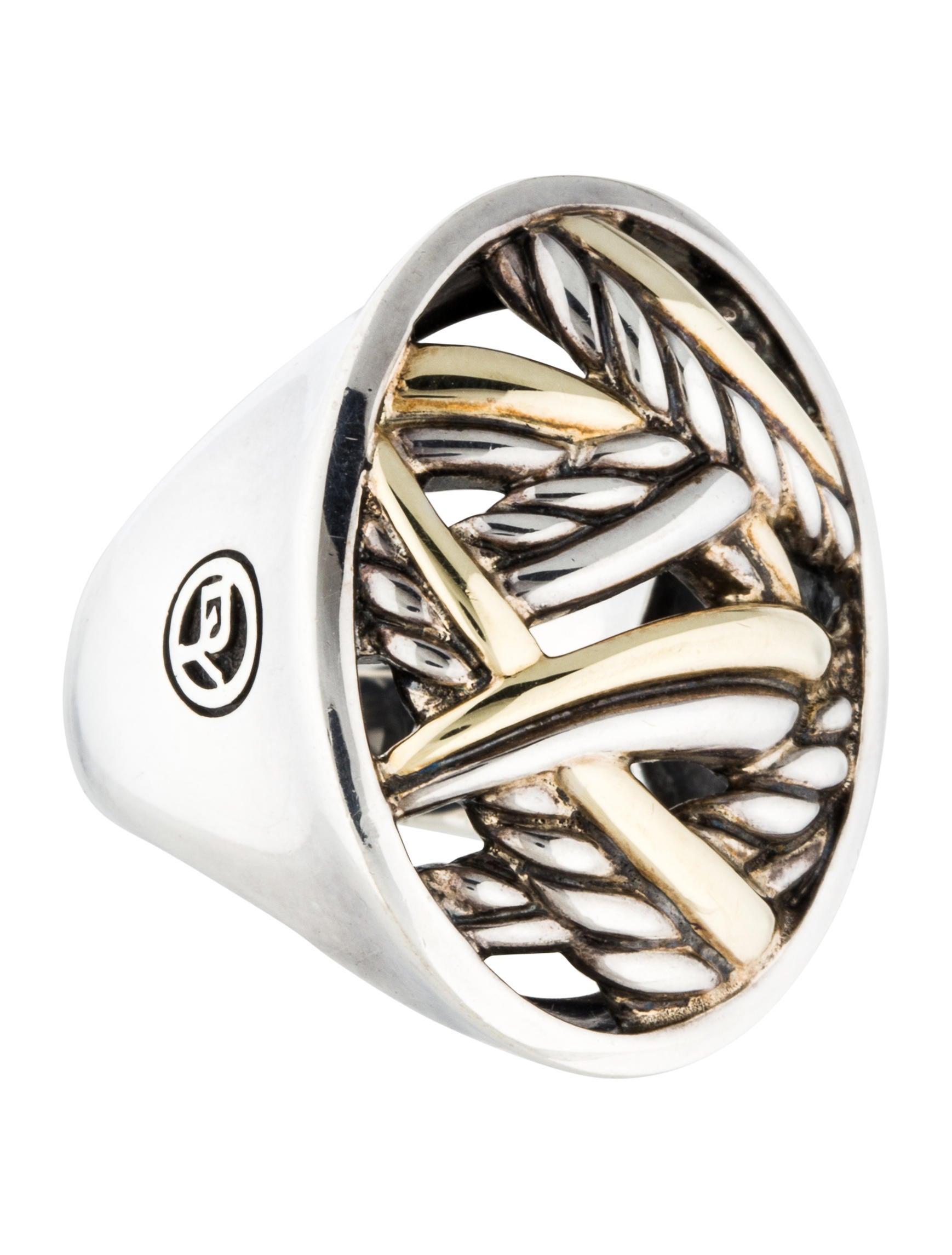 David yurman papyrus ring rings dvy37563 the realreal for David yurman inspired jewelry rings