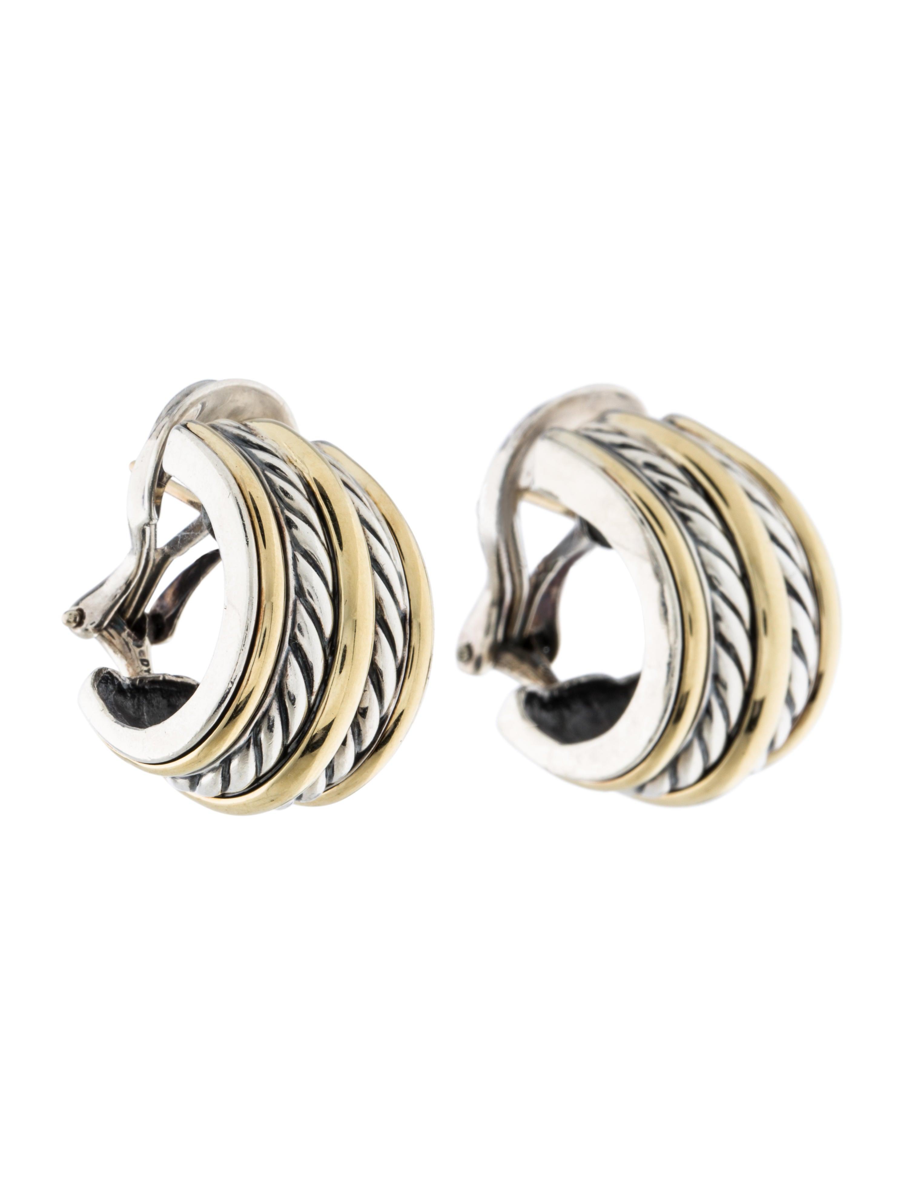david yurman two tone hoop earrings earrings dvy37569