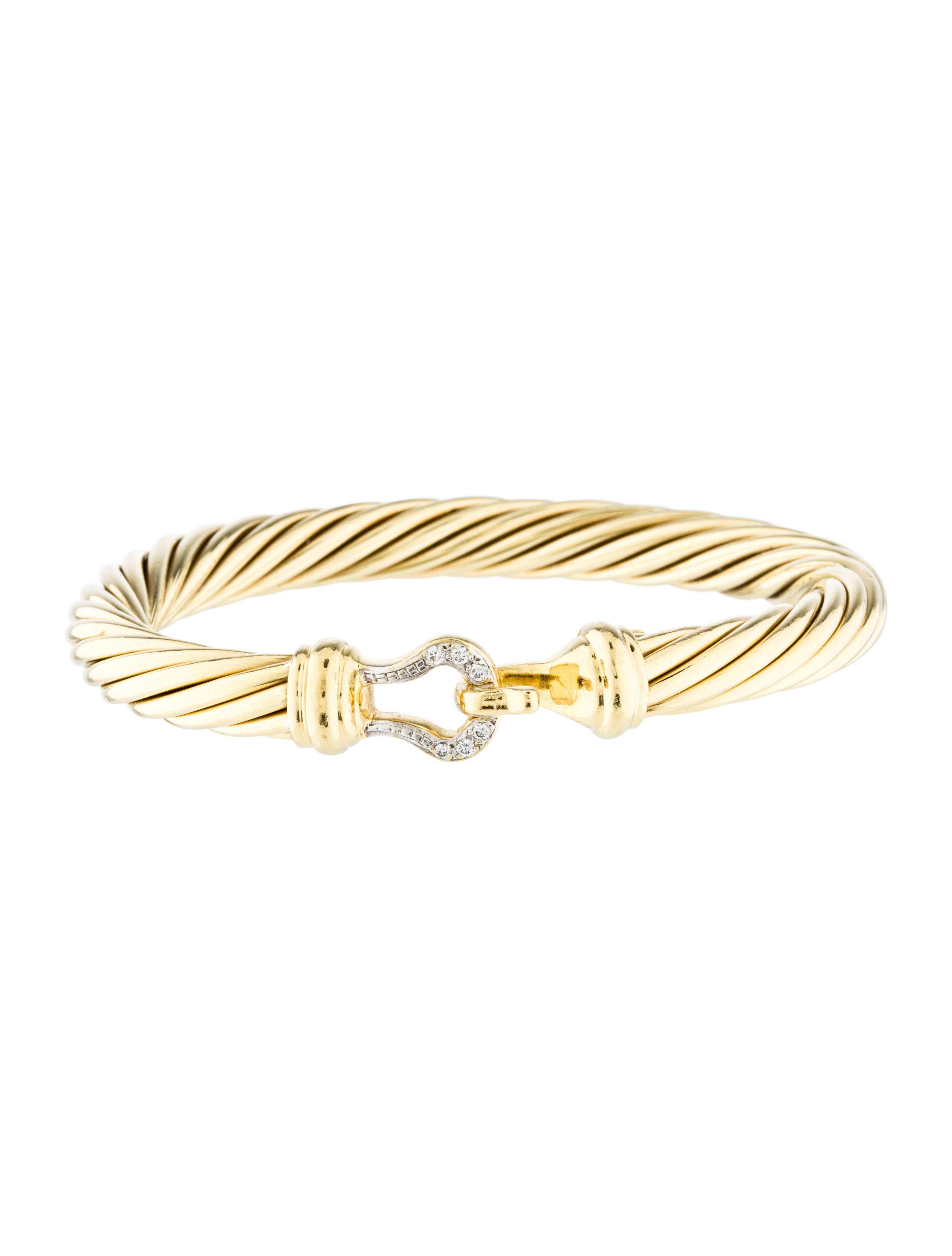 David yurman diamond buckle cable bracelet bracelets for David yurman inspired bracelet cable