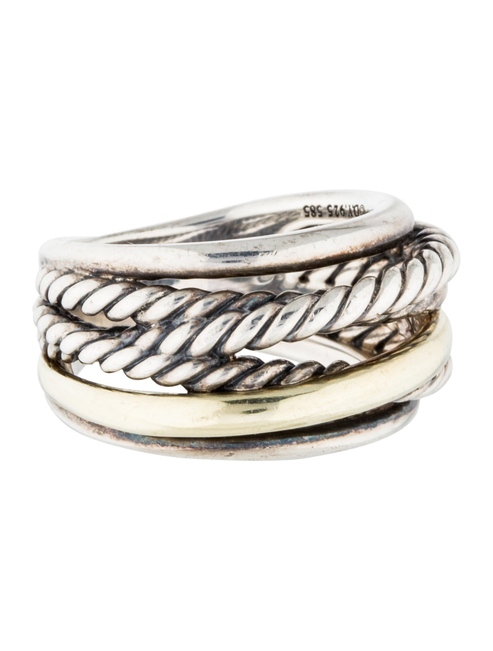 David yurman crossover narrow ring rings dvy37670 for David yurman inspired jewelry rings