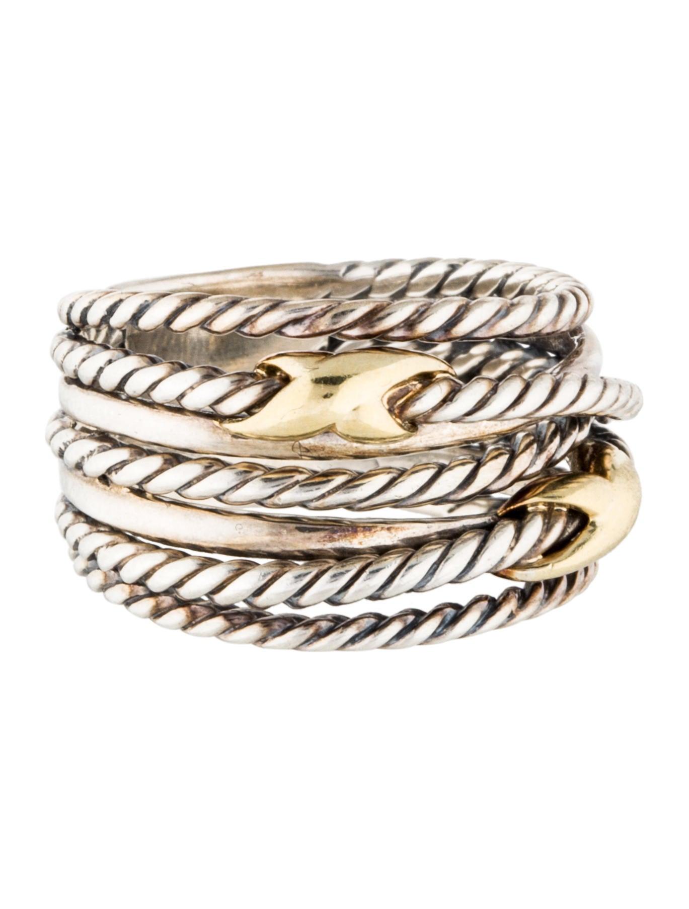 David yurman double x crossover ring rings dvy37671 for David yurman inspired jewelry rings