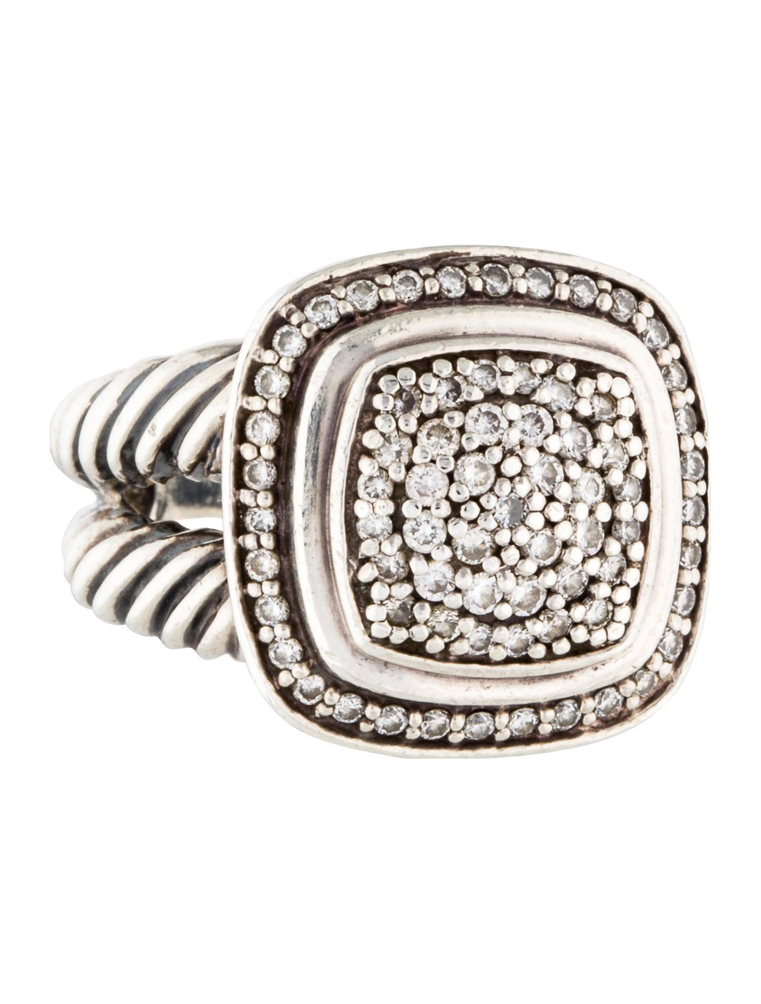 David yurman pav diamond albion ring rings dvy37673 for David yurman inspired jewelry rings