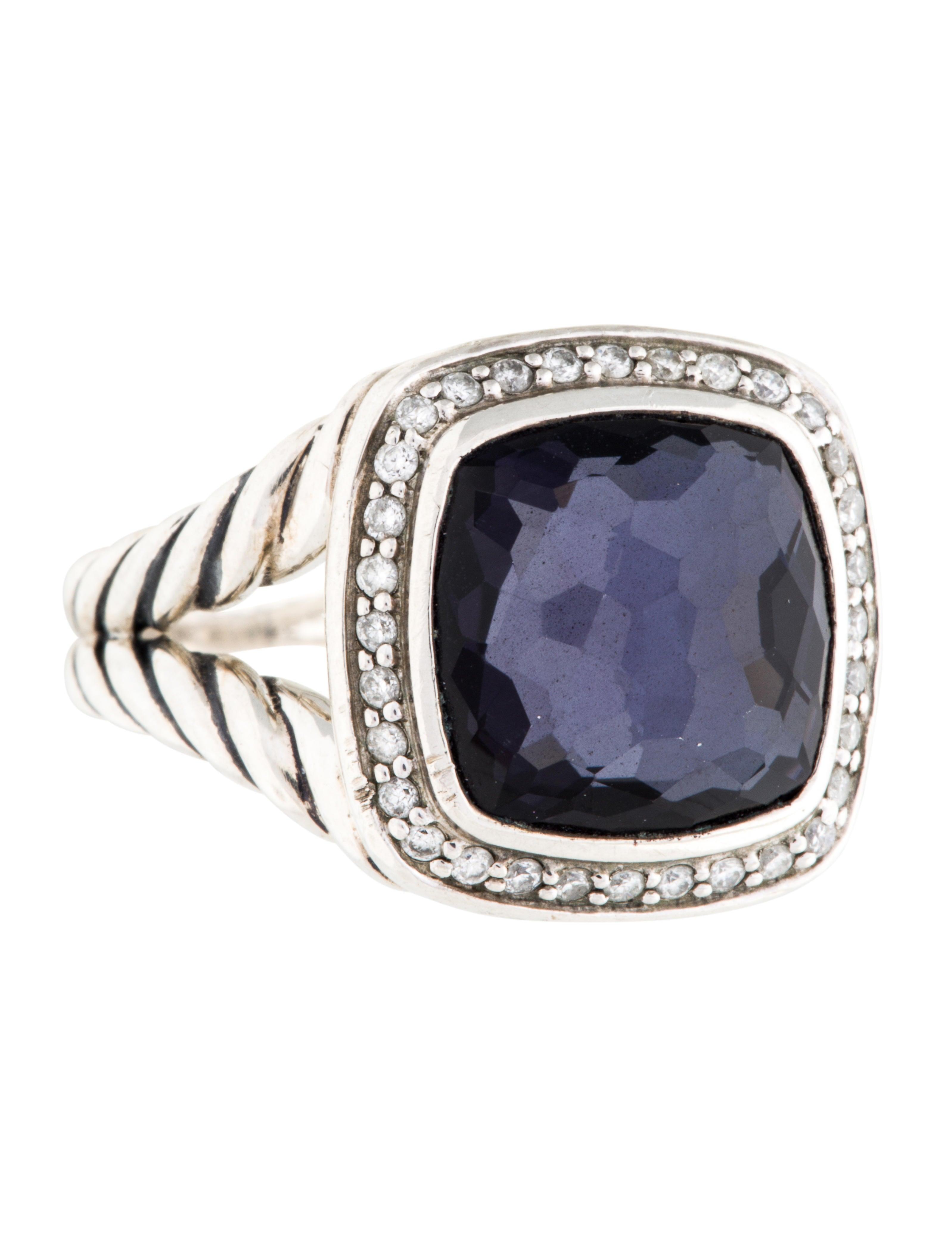 David yurman black orchid diamond albion ring rings for David yurman inspired jewelry rings
