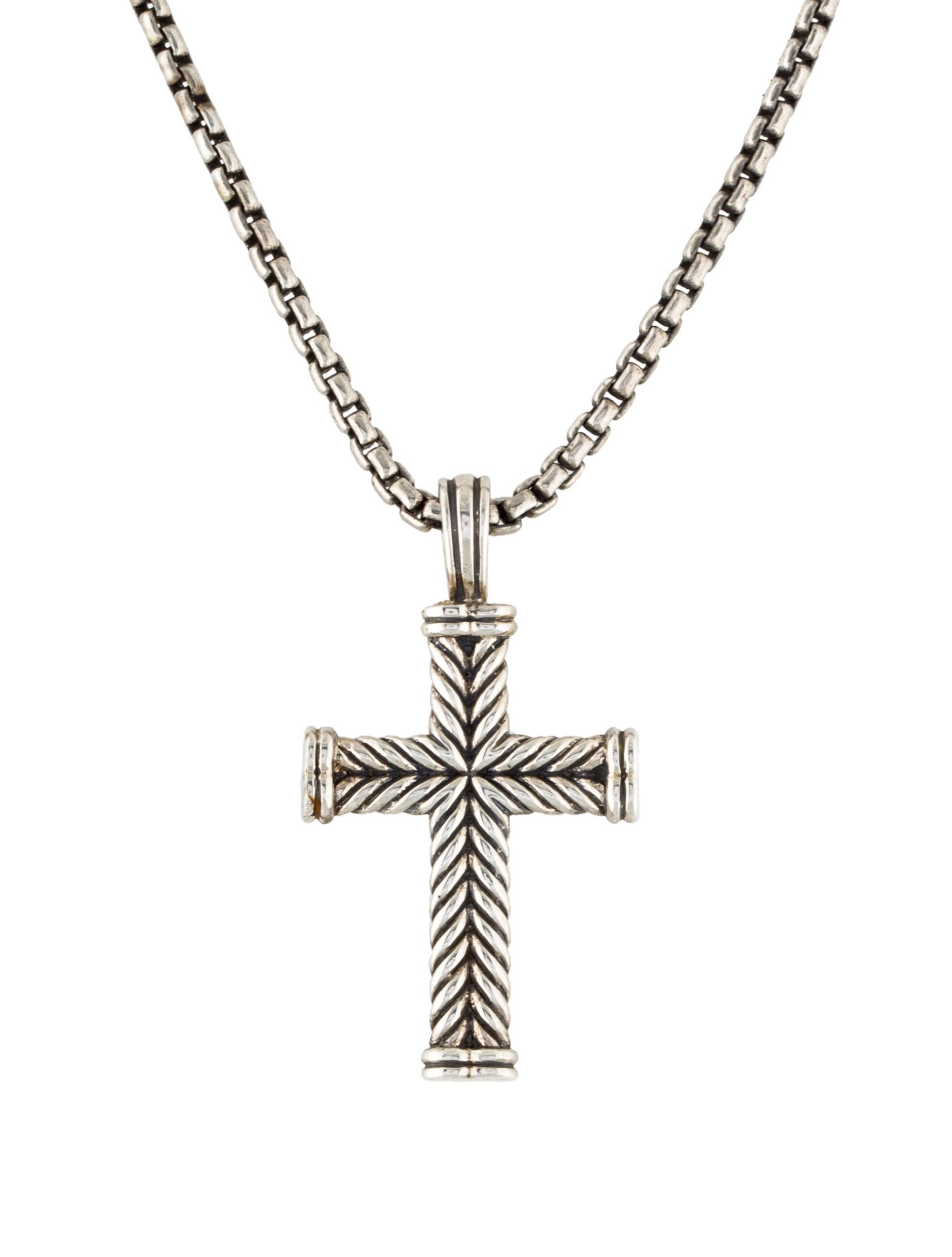 david yurman chevron cross pendant necklace necklaces