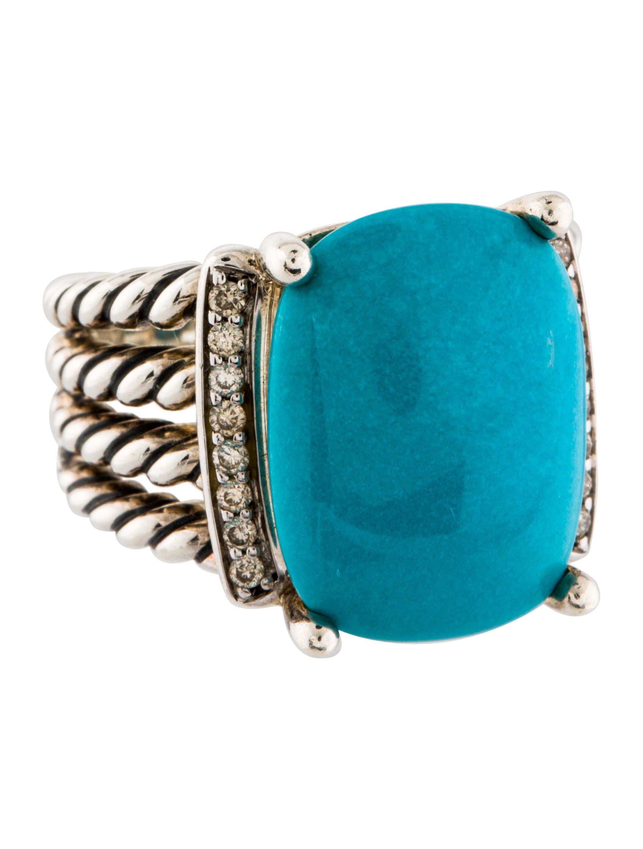 David yurman turquoise wheaton ring rings dvy37809 for David yurman inspired jewelry rings