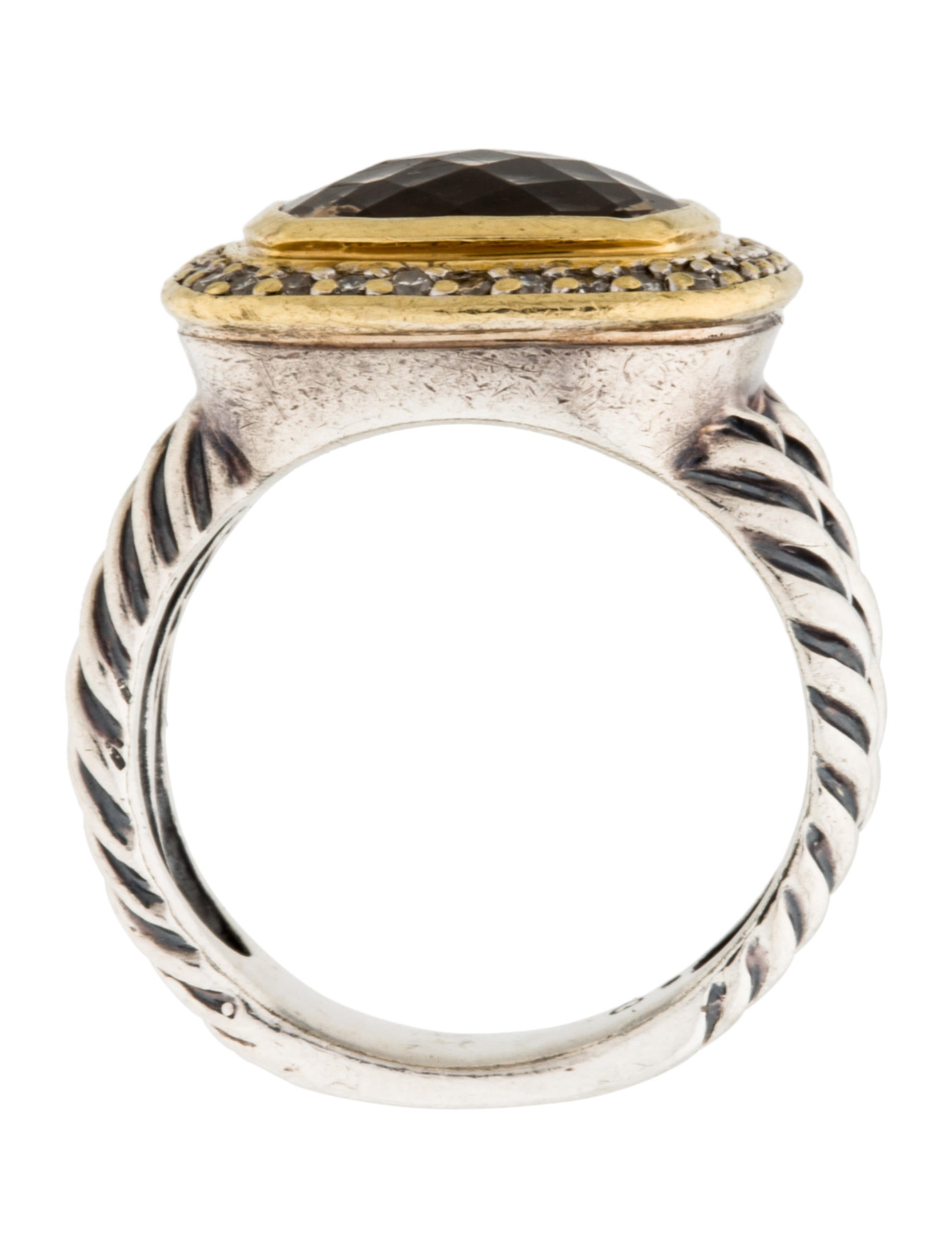 David Yurman Diamond Amp Smoky Quartz Albion Cocktail Ring