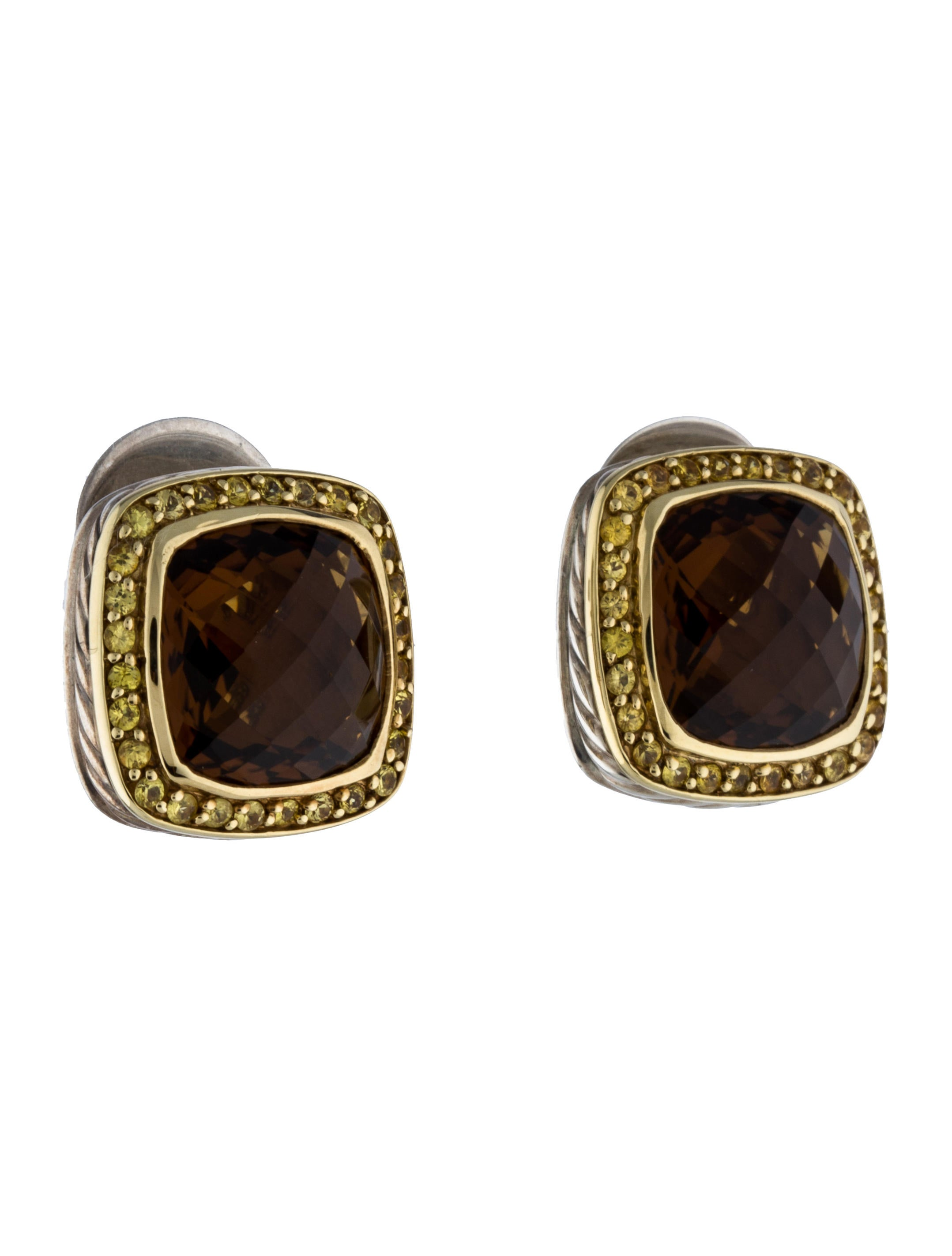 David Yurman Sapphire Amp Quartz Albion Earrings Earrings