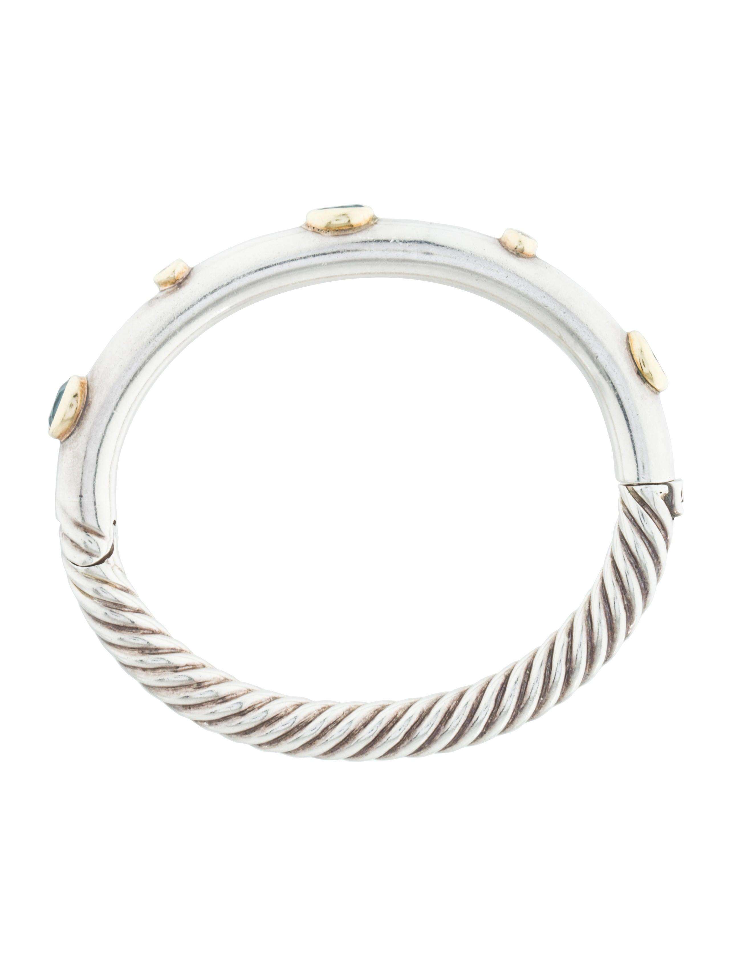 David Yurman Blue Topaz & Diamond Bangle Bracelet. Multi Bracelet. Beveled Engagement Rings. Sodalite Pendant. Beautiful Necklace. High End Jewelry. Marcasite Rings. French Cut Engagement Rings. Stainless Steel Chains