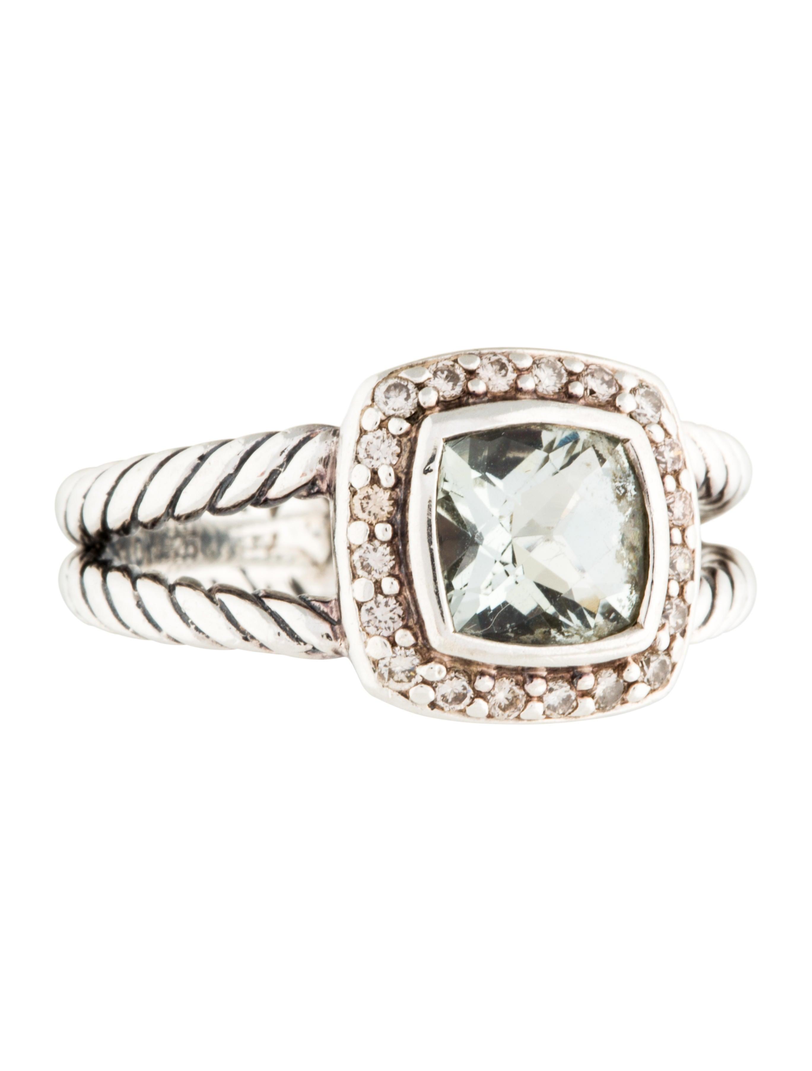 David yurman diamond prasiolite petite albion cocktail for David yurman inspired jewelry rings