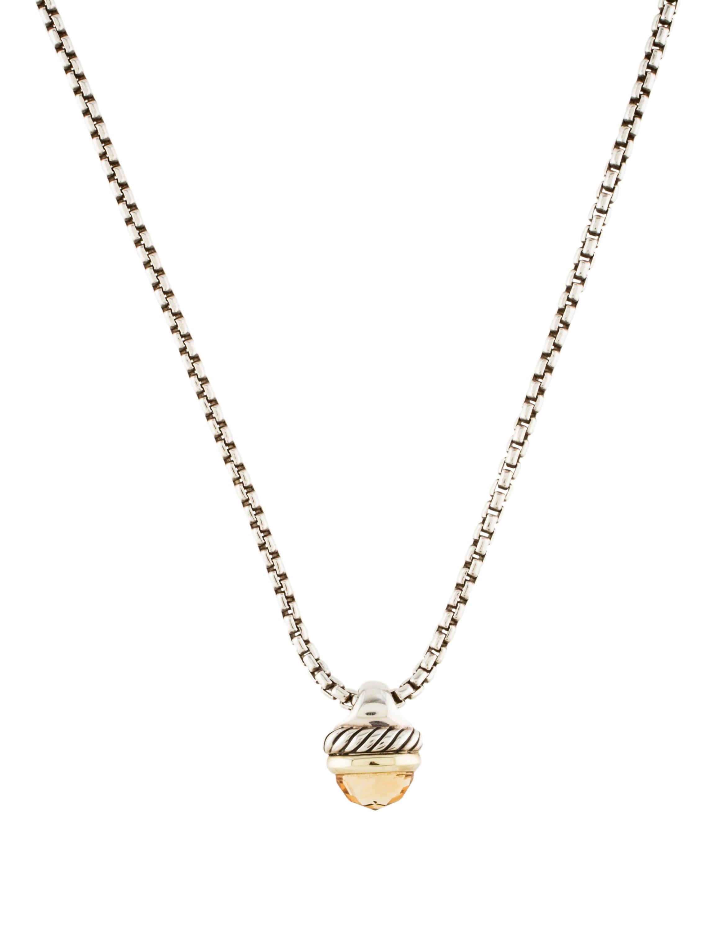 David yurman citrine acorn pendant necklace necklaces dvy38295 citrine acorn pendant necklace mozeypictures Image collections