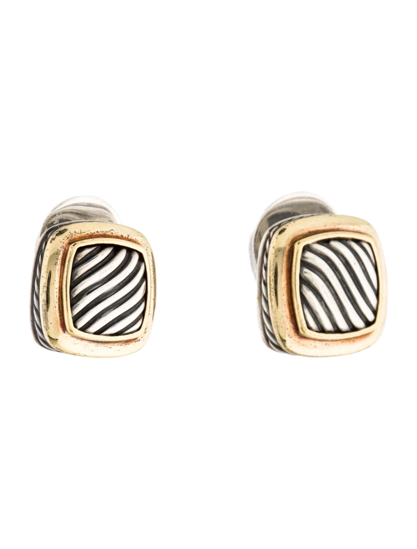 david yurman two tone albion earrings earrings