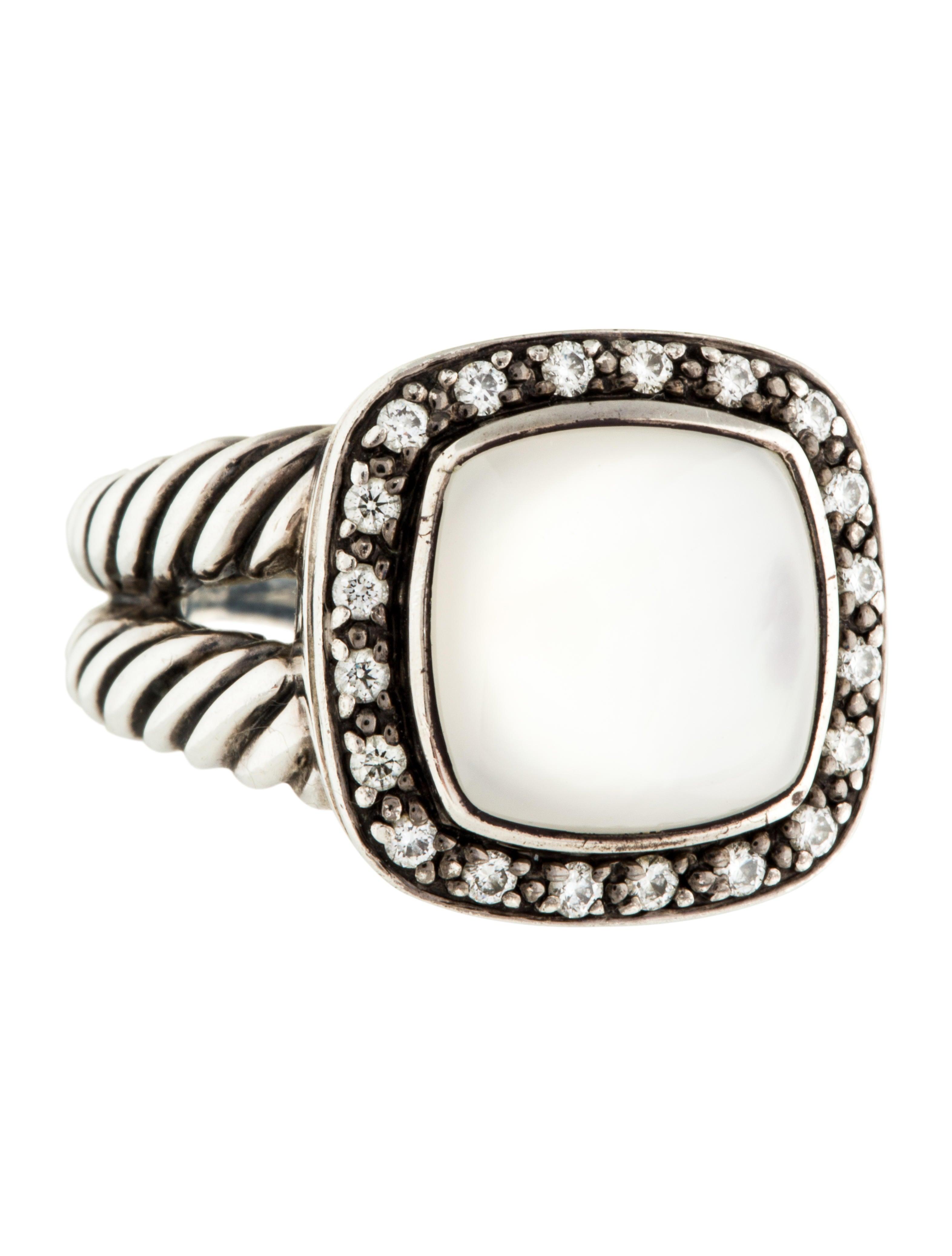 david yurman mother of pearl diamond albion ring rings. Black Bedroom Furniture Sets. Home Design Ideas
