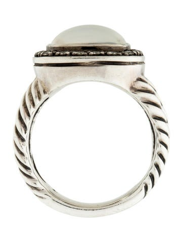 David Yurman Mother Of Pearl Amp Diamond Albion Ring Rings