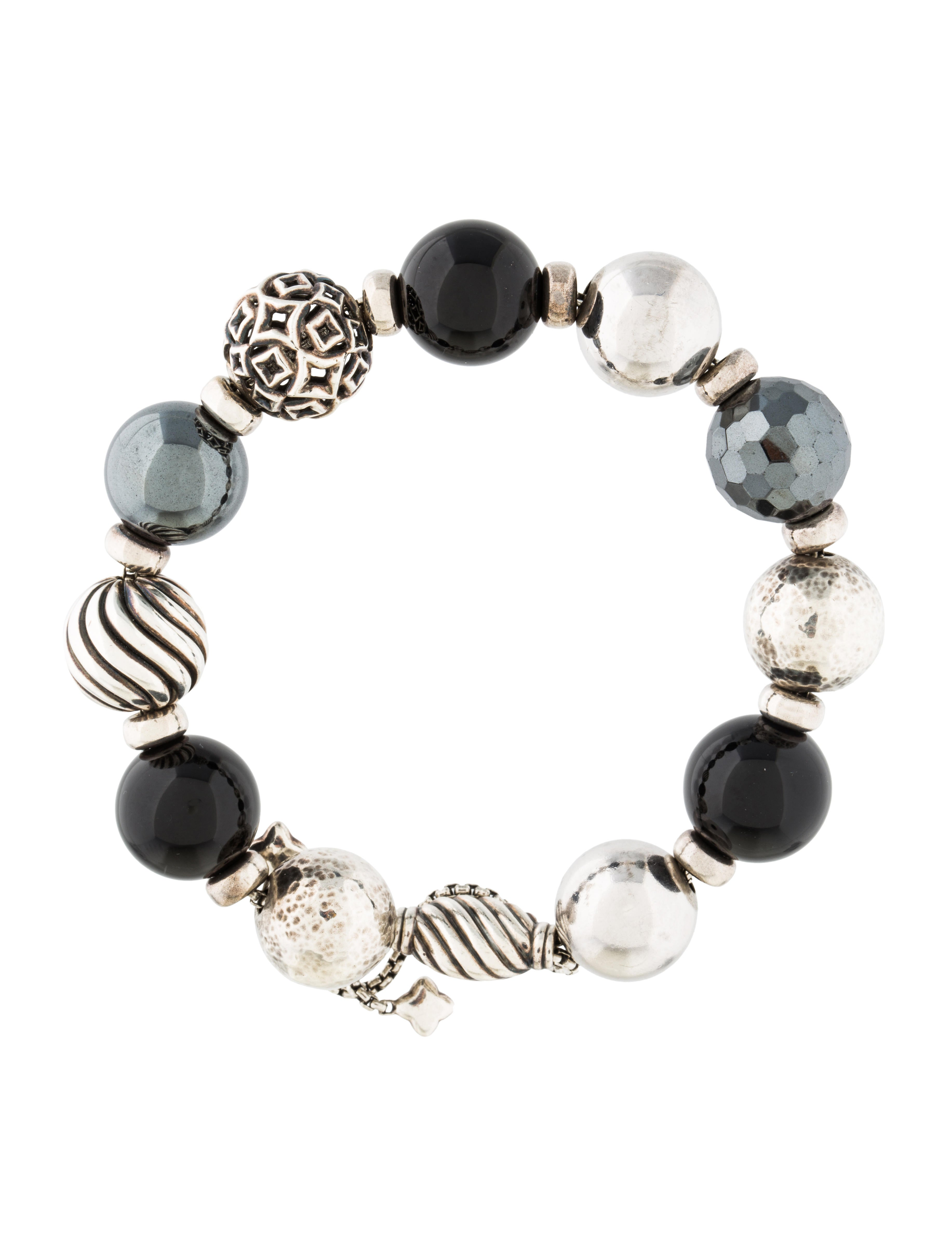 david yurman onyx hematite bead bracelet bracelets