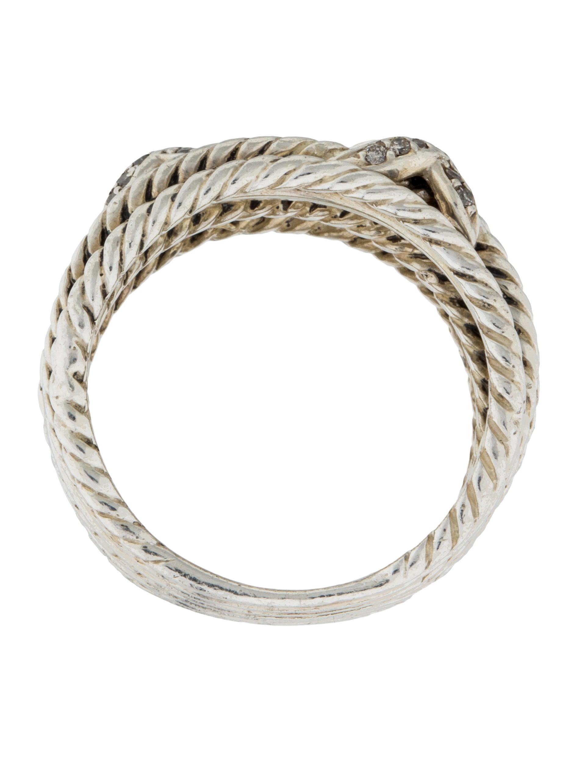 david yurman x crossover ring rings