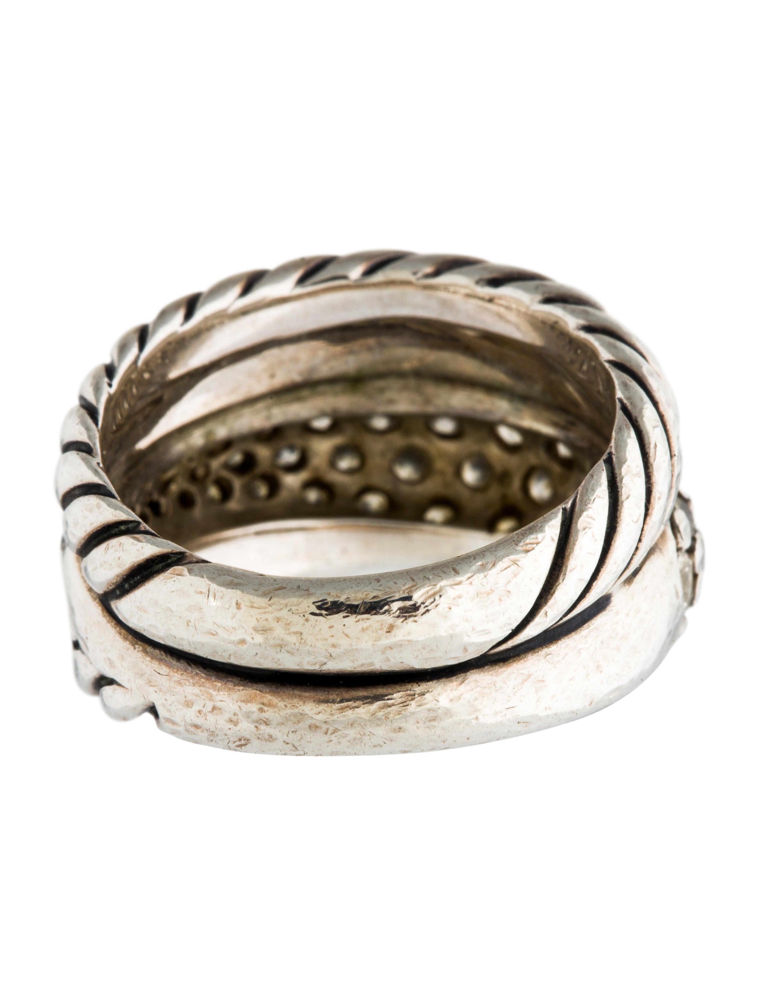 David yurman diamond band ring rings dvy38805 the for David yurman inspired jewelry rings