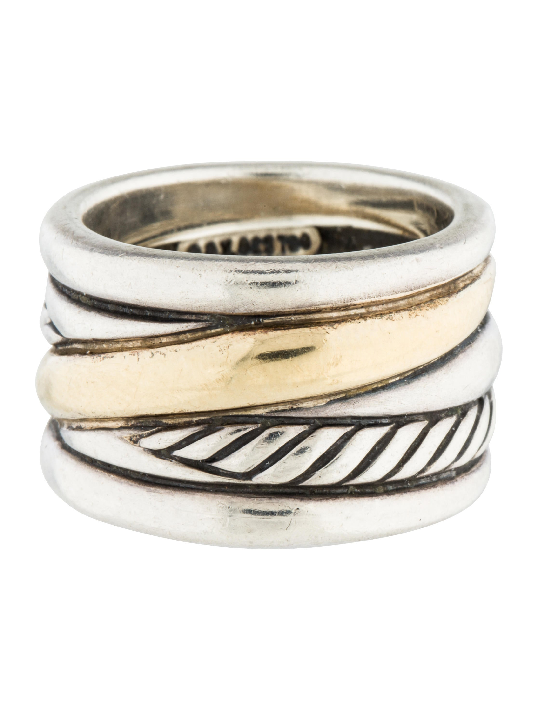david yurman two tone cable ring rings dvy38852 the