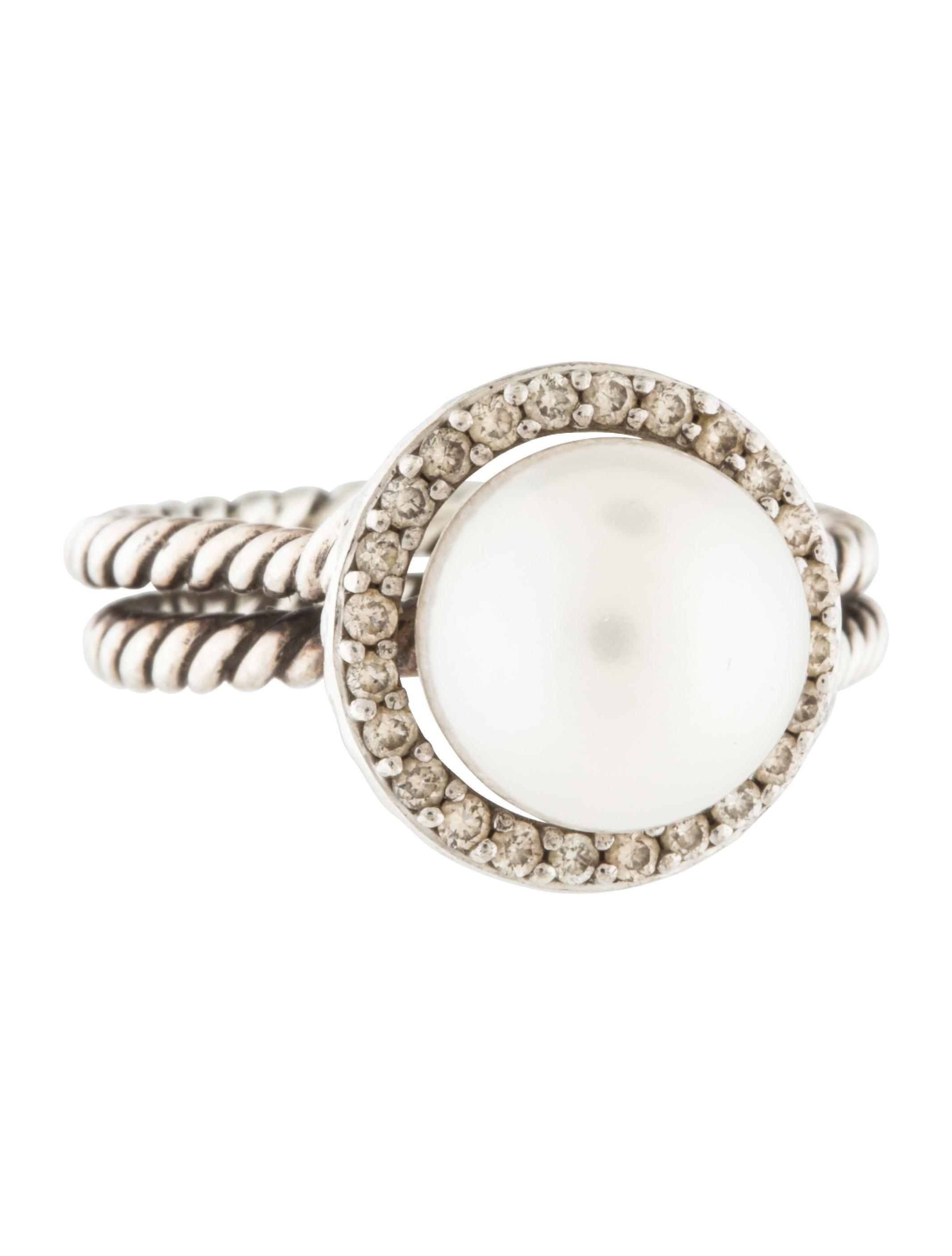 david yurman pearl ring rings dvy38910 the