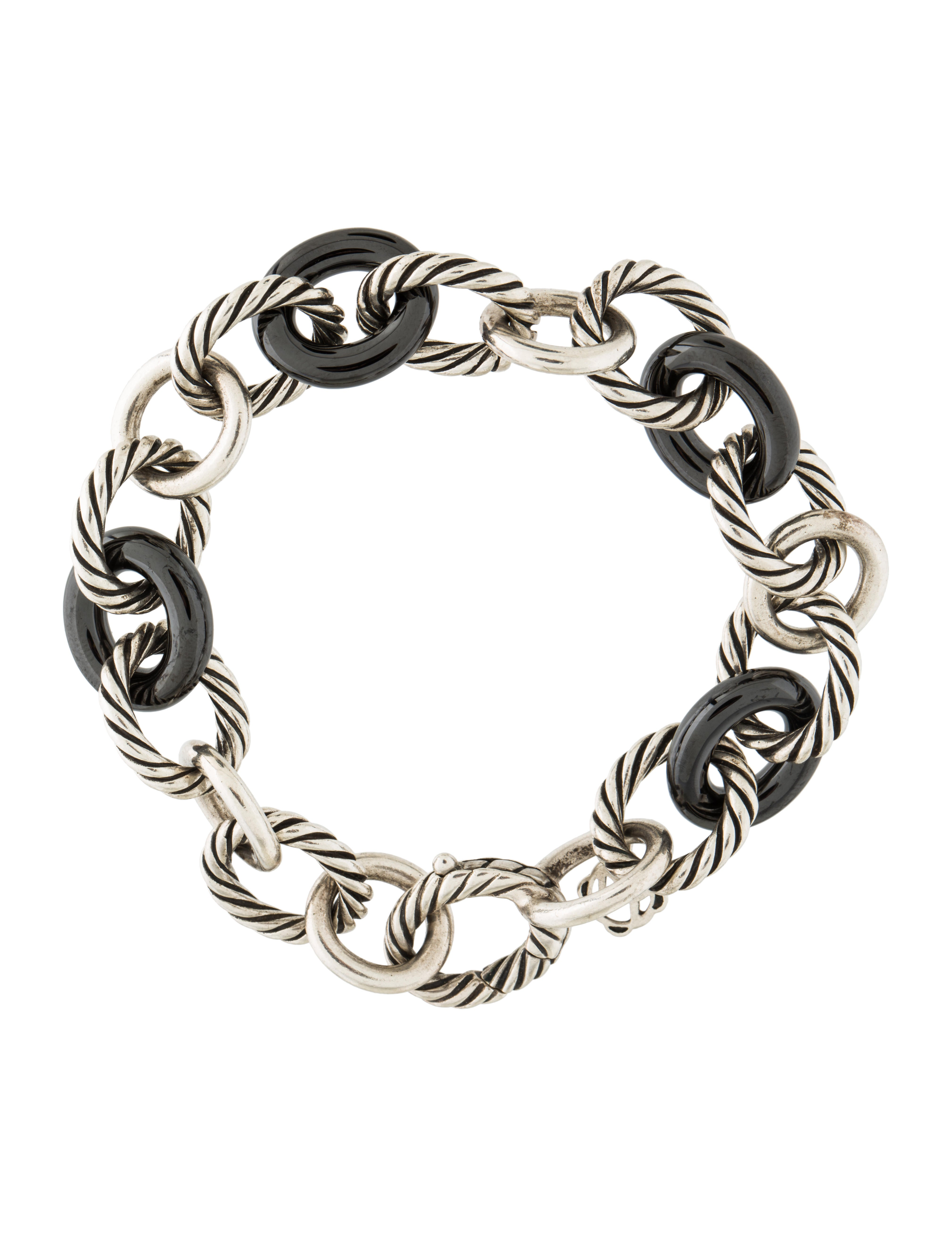 david yurman oval link bracelet david yurman large oval link bracelet with black ceramic 7320