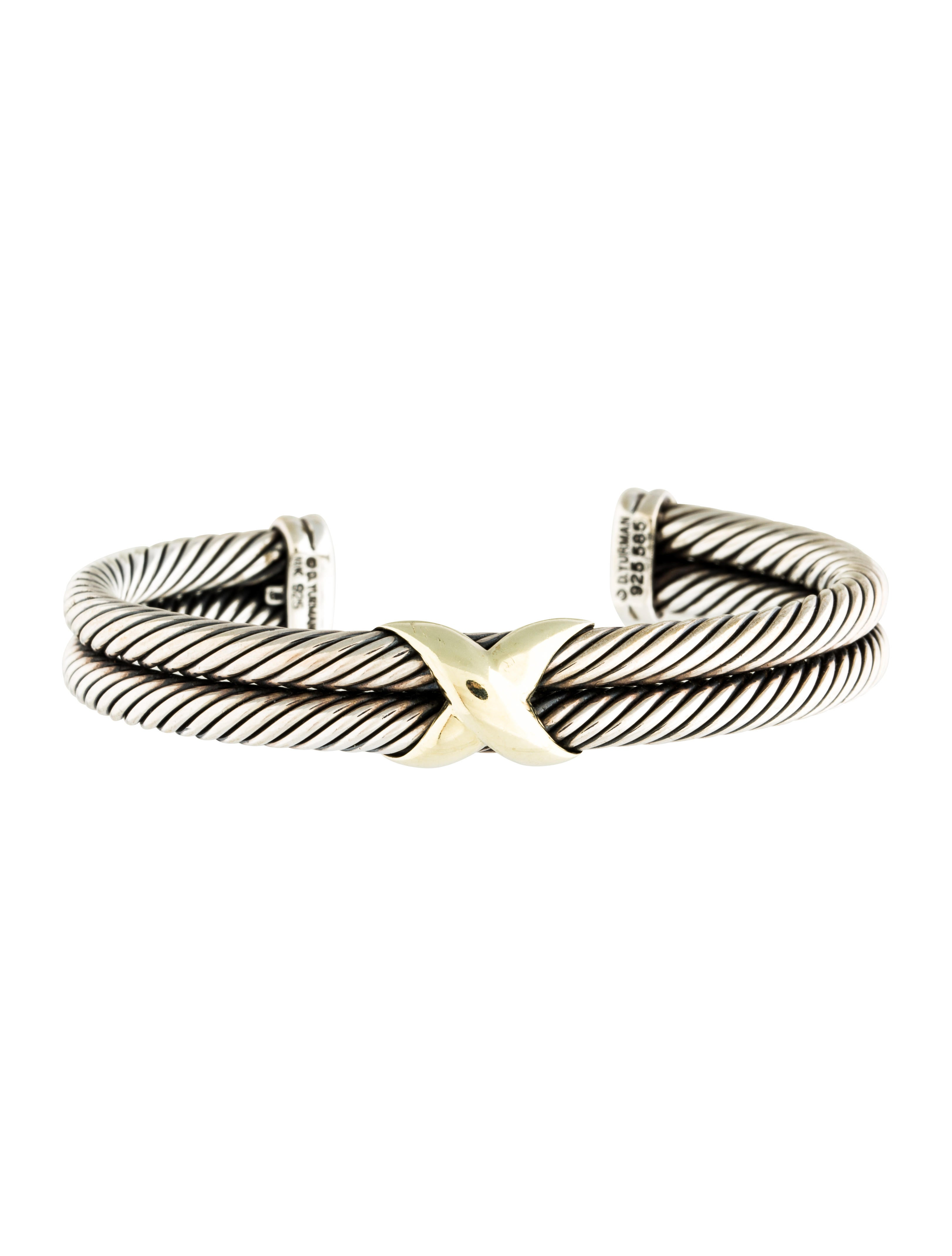 David yurman x double cable cuff bracelet bracelets for David yurman inspired bracelet cable