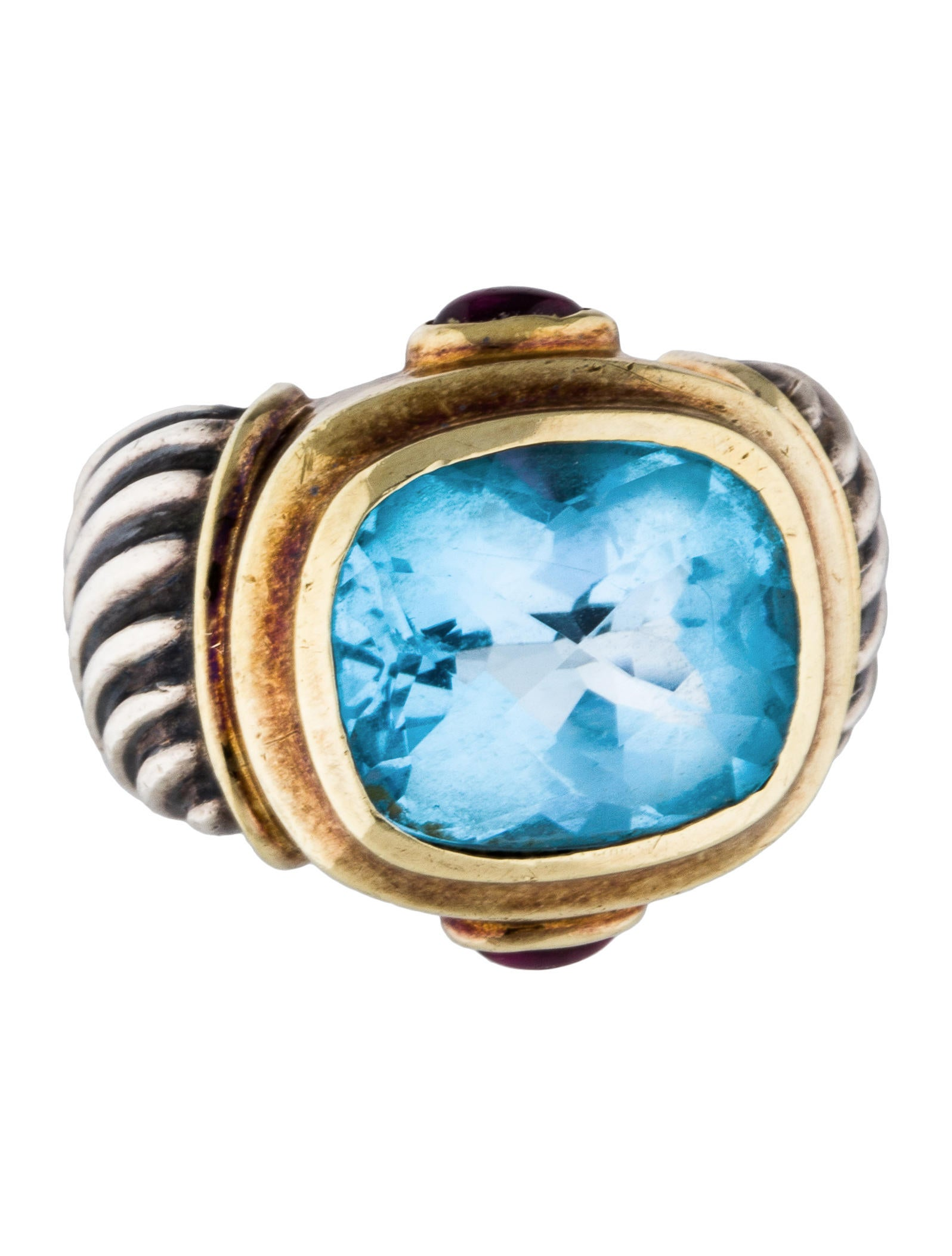 David yurman rhodolite topaz two tone ring rings for David yurman inspired jewelry rings
