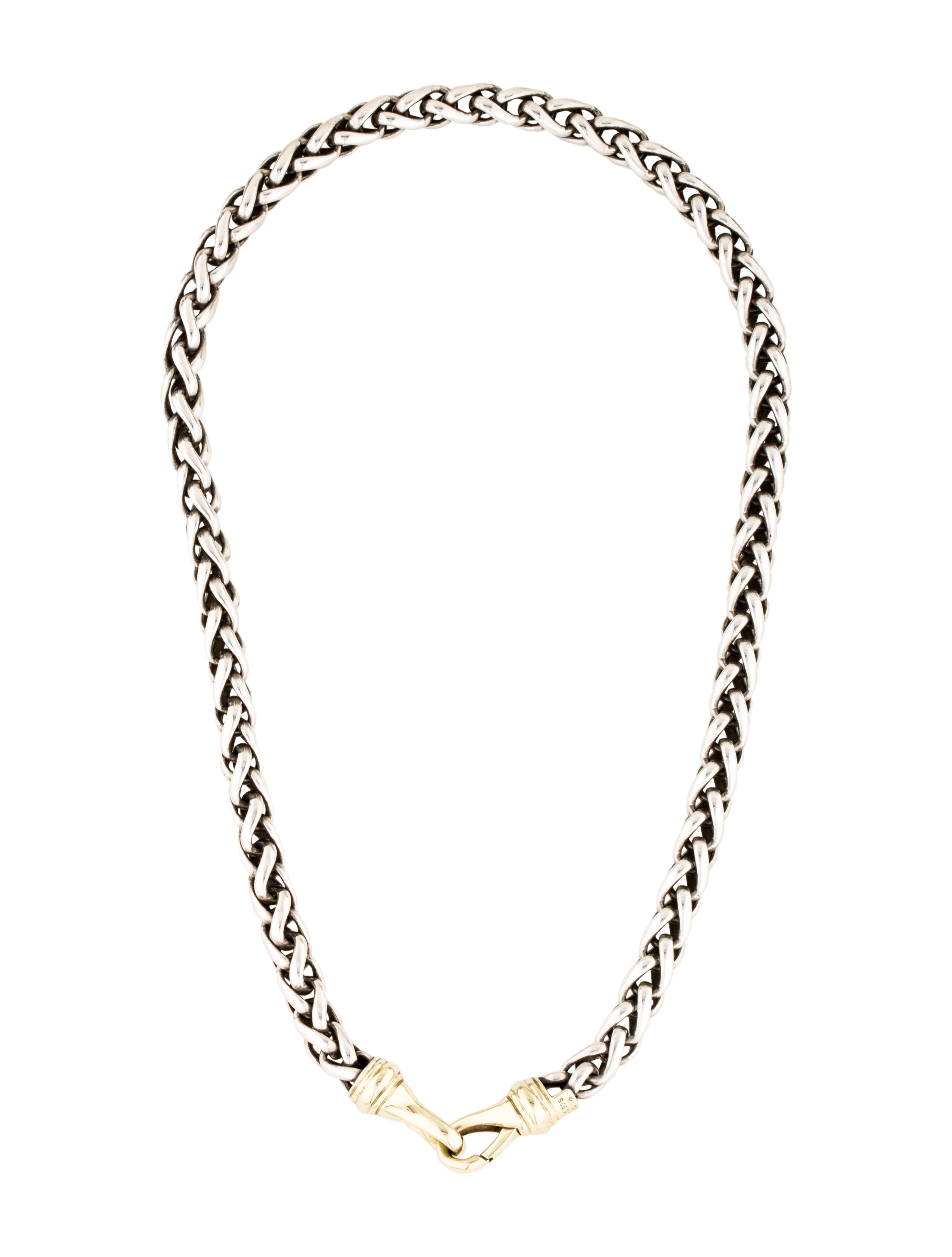 david yurman two tone wheat chain necklace necklaces