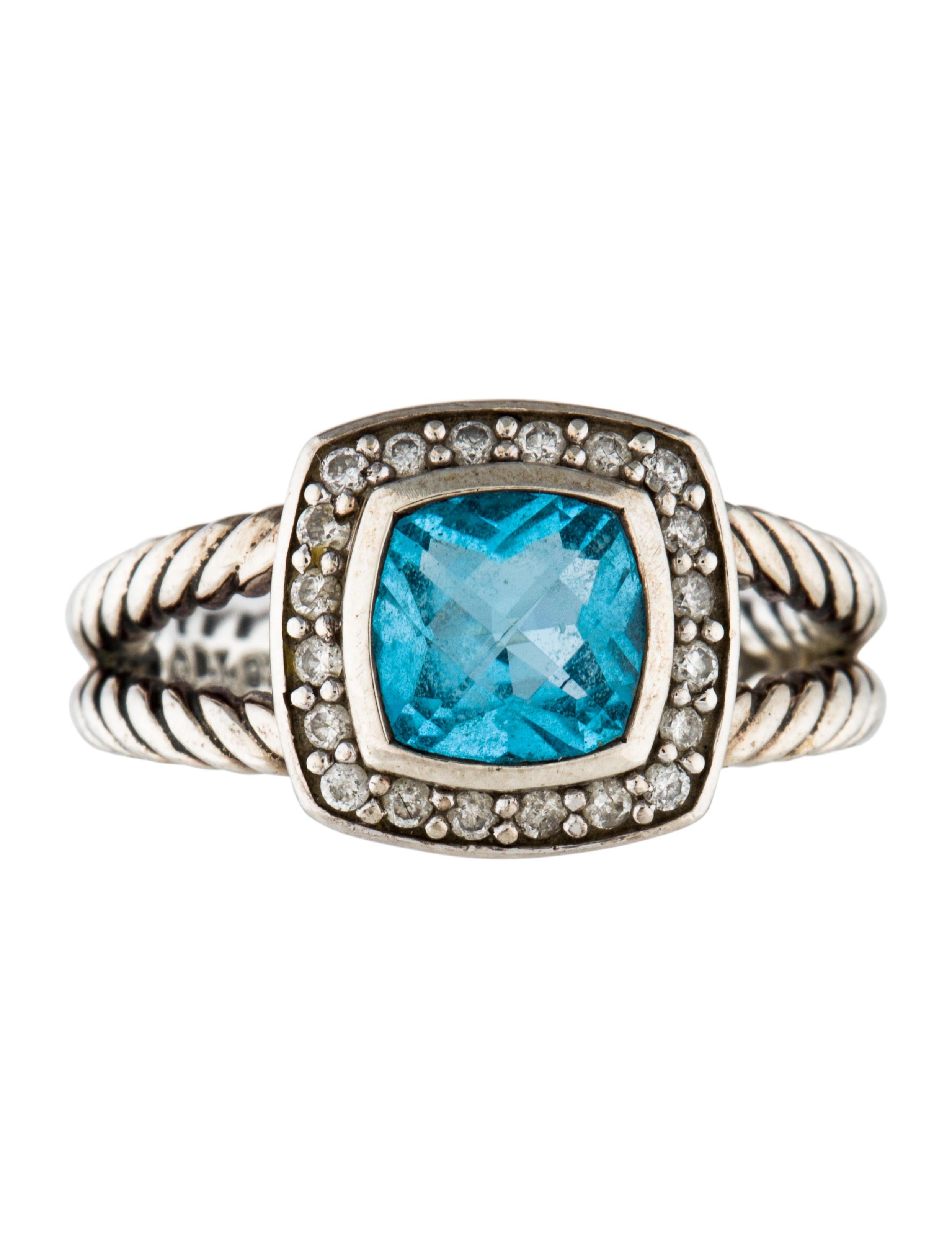 David yurman topaz diamond petite albion ring rings for David yurman inspired jewelry rings