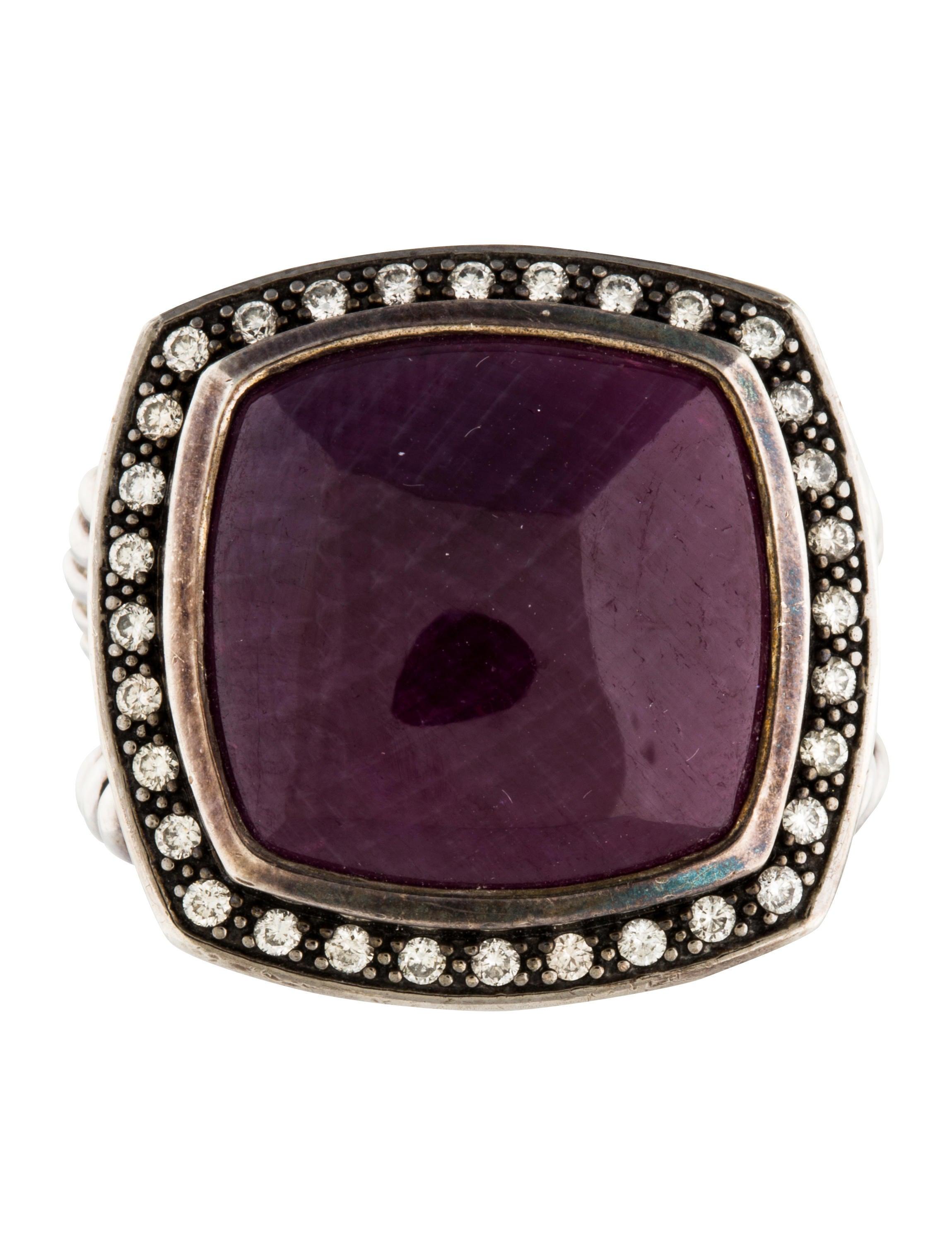 David Yurman Ruby amp Diamond Albion Ring Rings DVY39270  : DVY392703enlarged from www.therealreal.com size 2299 x 3033 jpeg 433kB