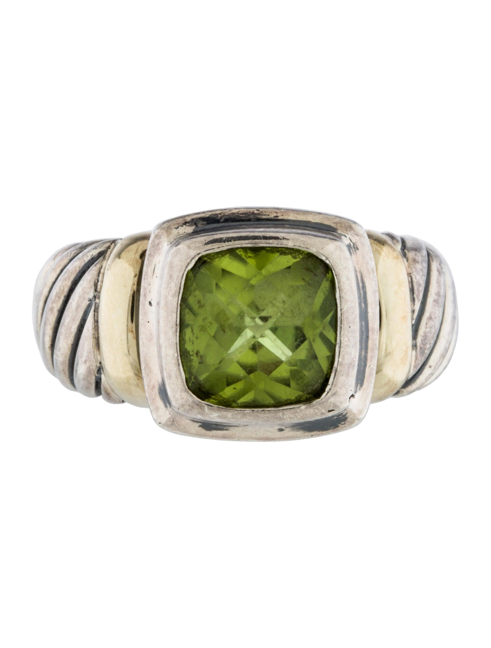 David yurman peridot cable ring rings dvy39495 the for David yurman inspired jewelry rings