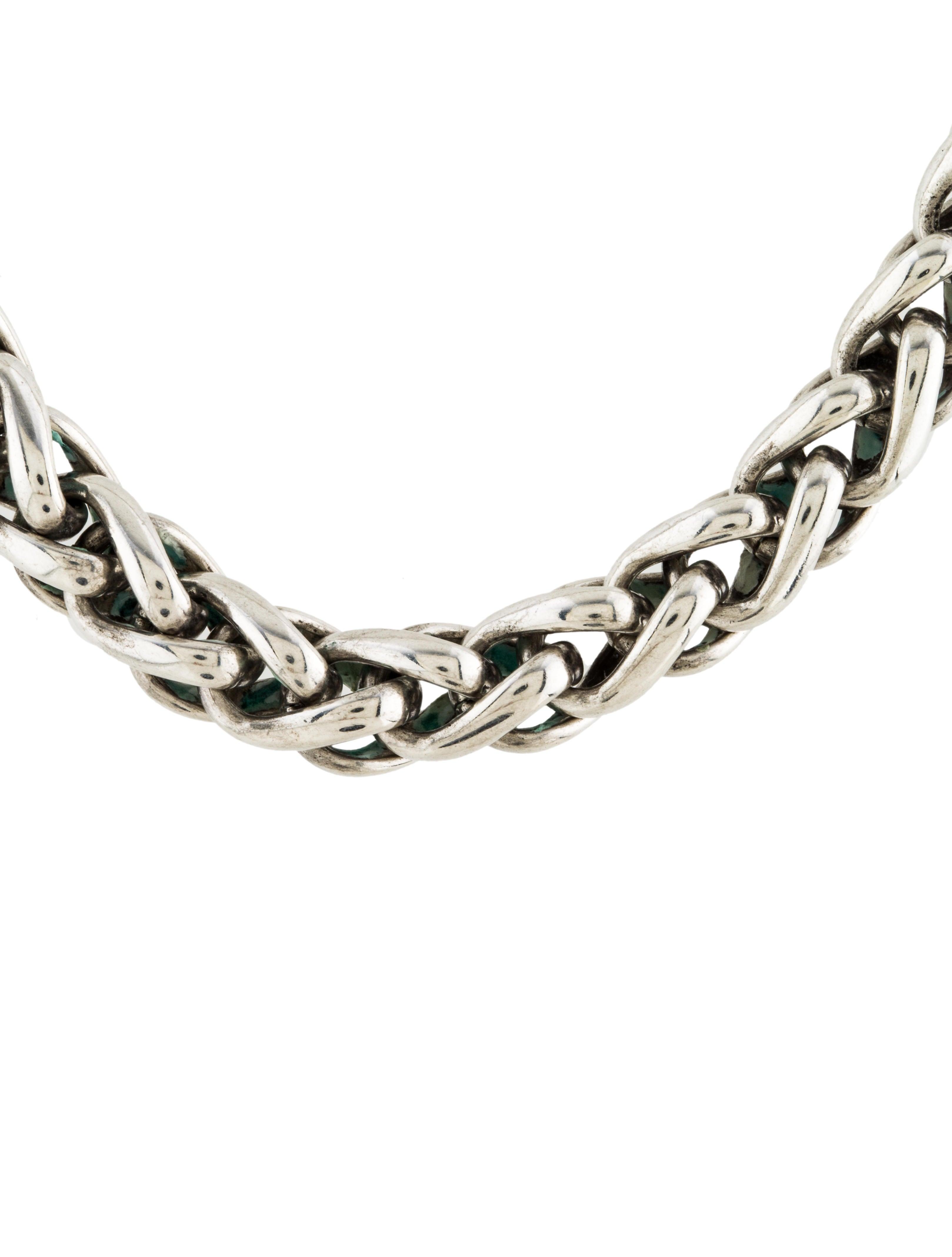 David Yurman Two Tone Wheat Chain Necklace Necklaces