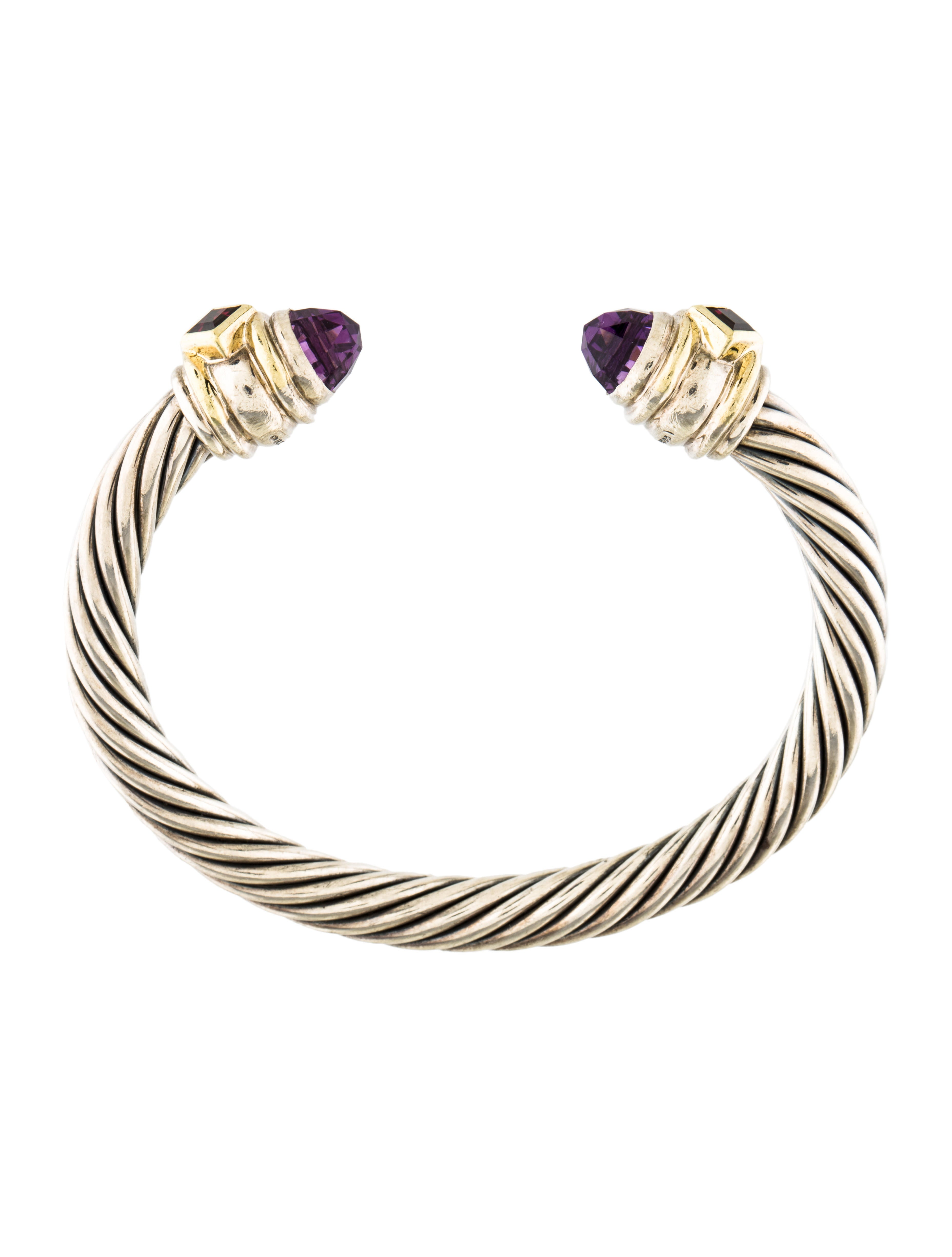 David yurman renaissance cable cuff bracelet bracelets for David yurman inspired bracelet cable