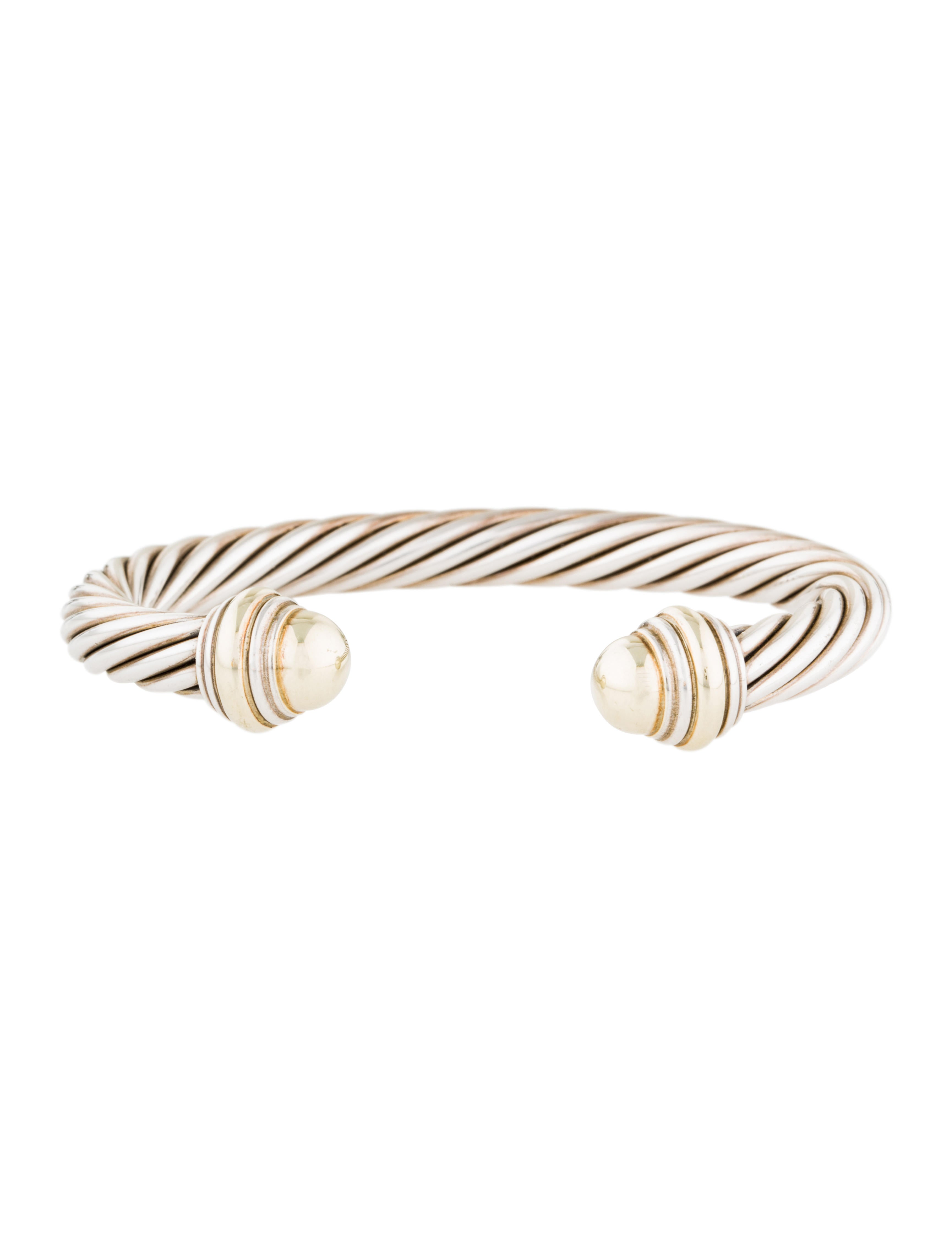 David yurman two tone cable classic bracelet bracelets for David yurman inspired bracelet cable