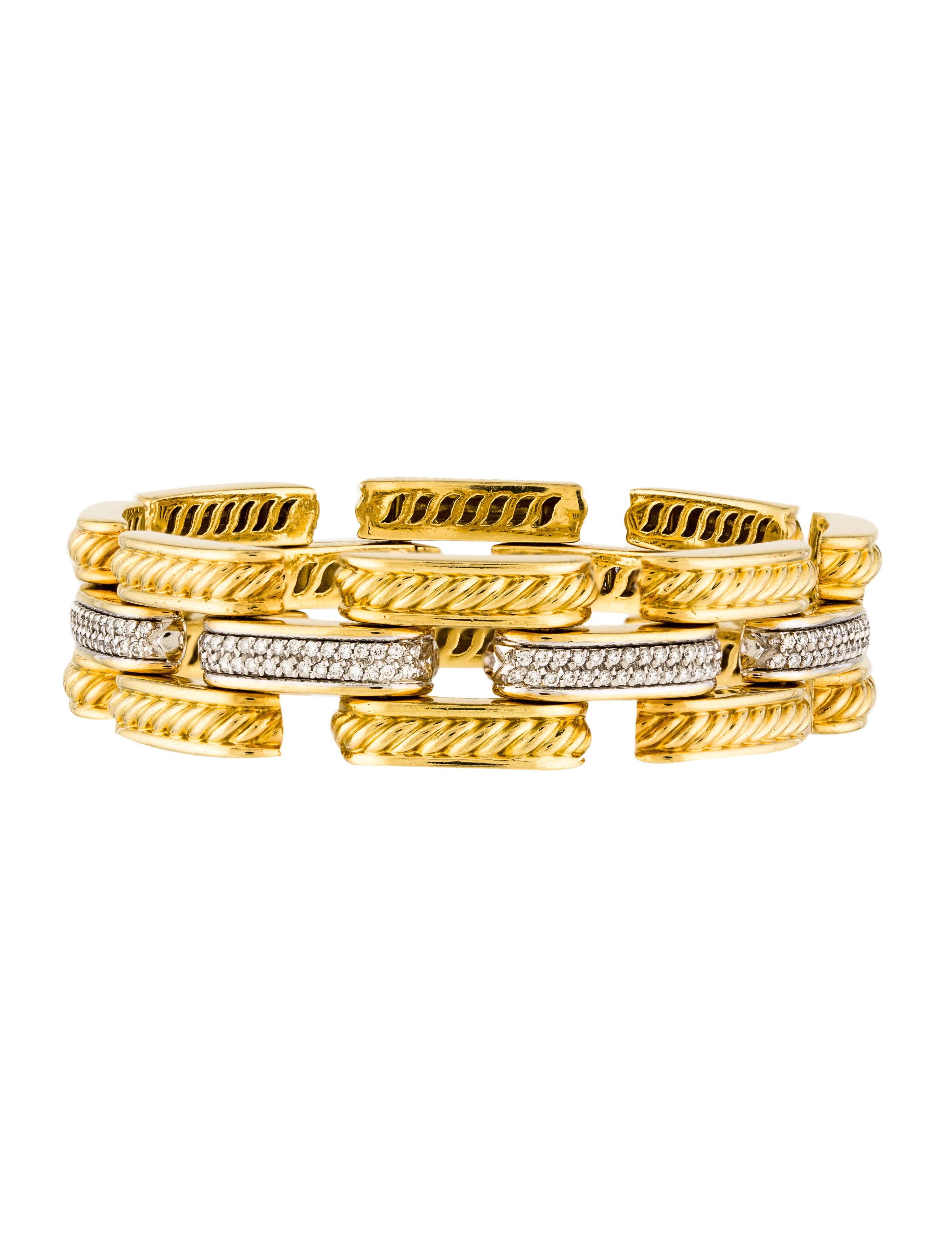 Round Dining Room Tables For 10 David Yurman 18k Diamond Gatelin Bracelet Bracelets