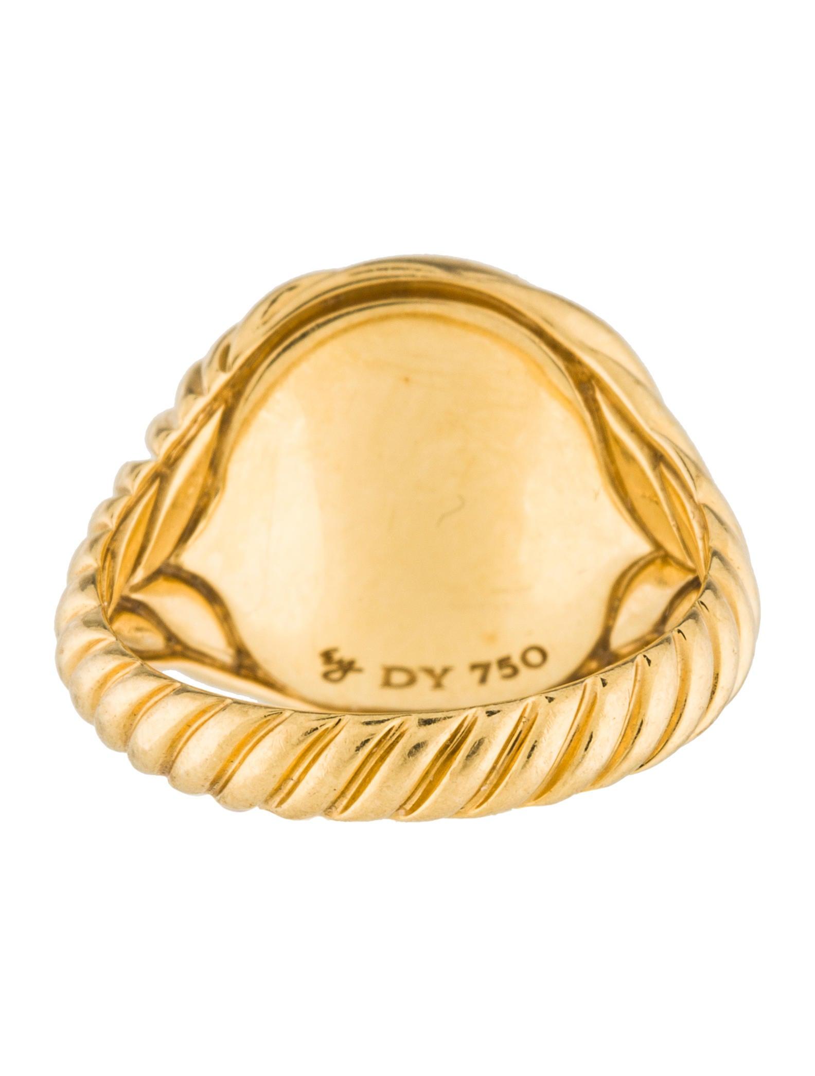 david yurman 18k sculpted cable ring rings