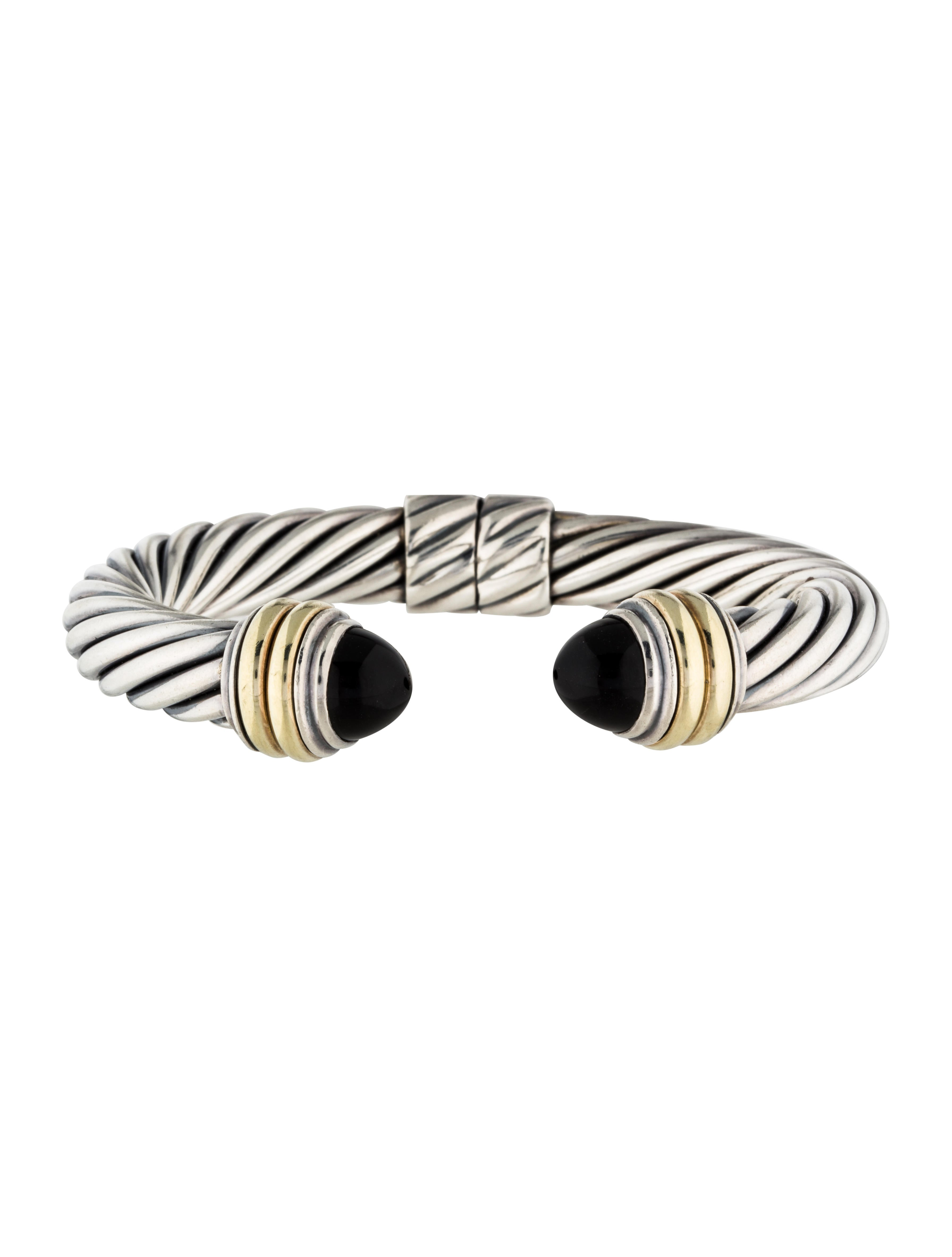 David yurman onyx cable classics bracelet bracelets for David yurman inspired bracelet cable