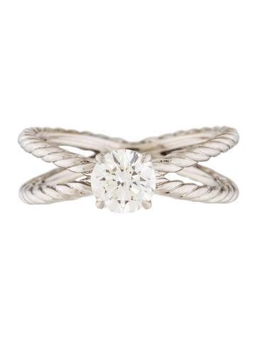 David Yurman Cross Cable Engagement Ring