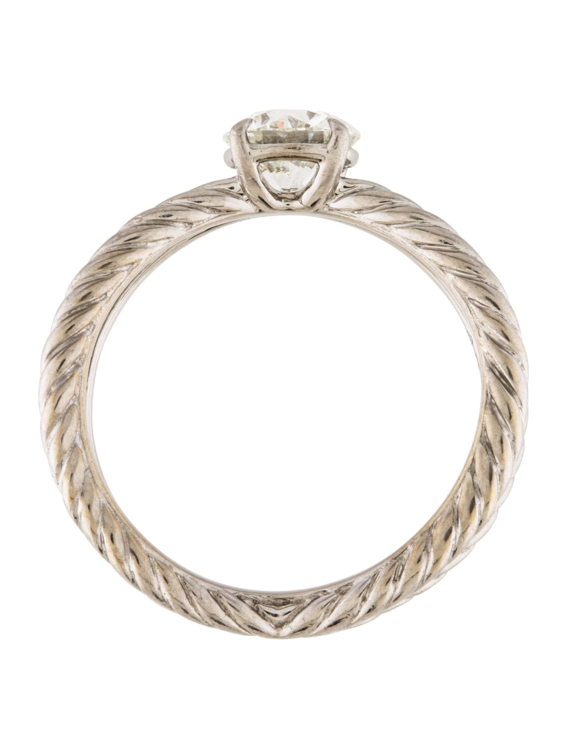 David yurman platinum diamond engagement ring rings for David yurman inspired jewelry rings