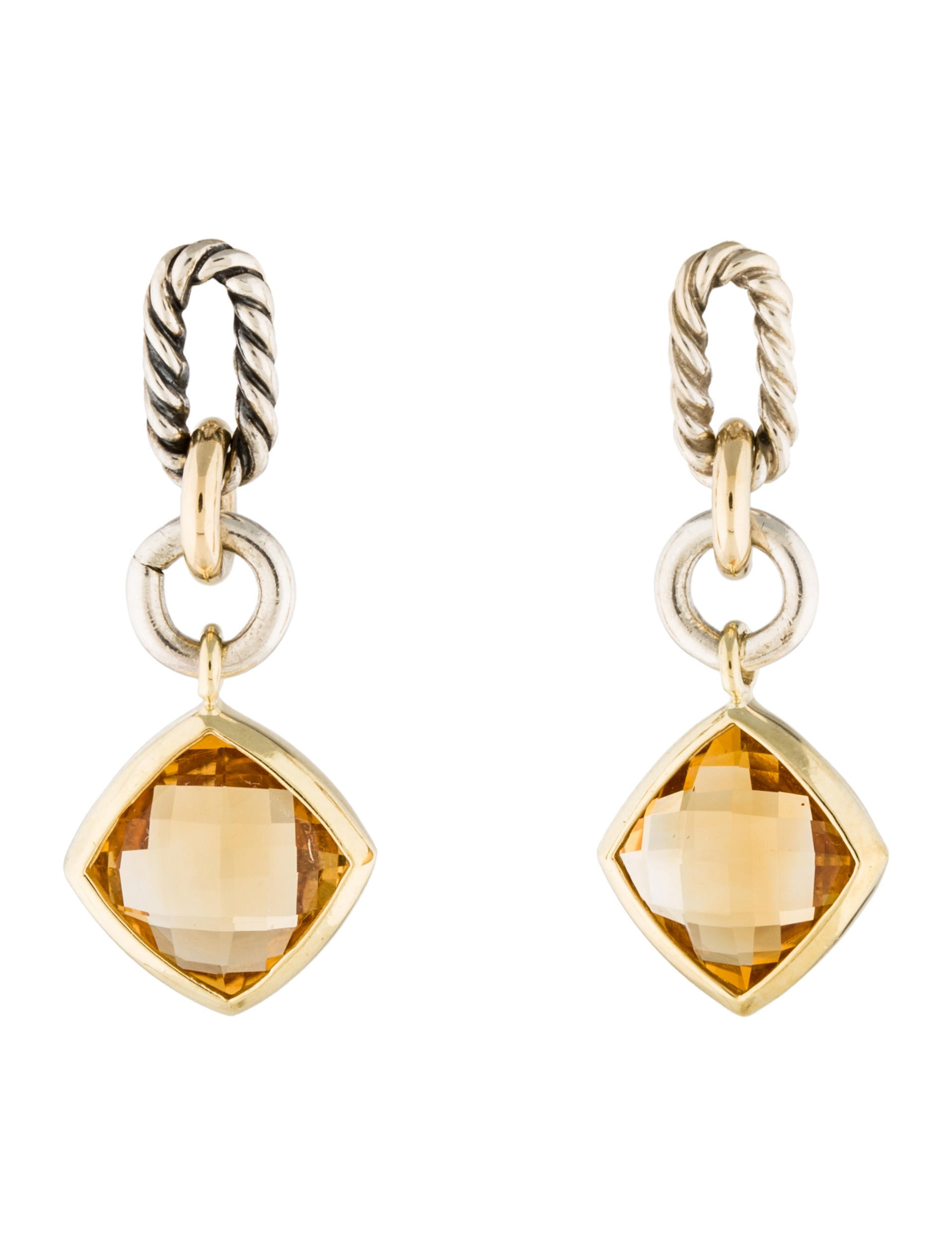 david yurman earrings sale david yurman two tone citrine drop earrings earrings 4316