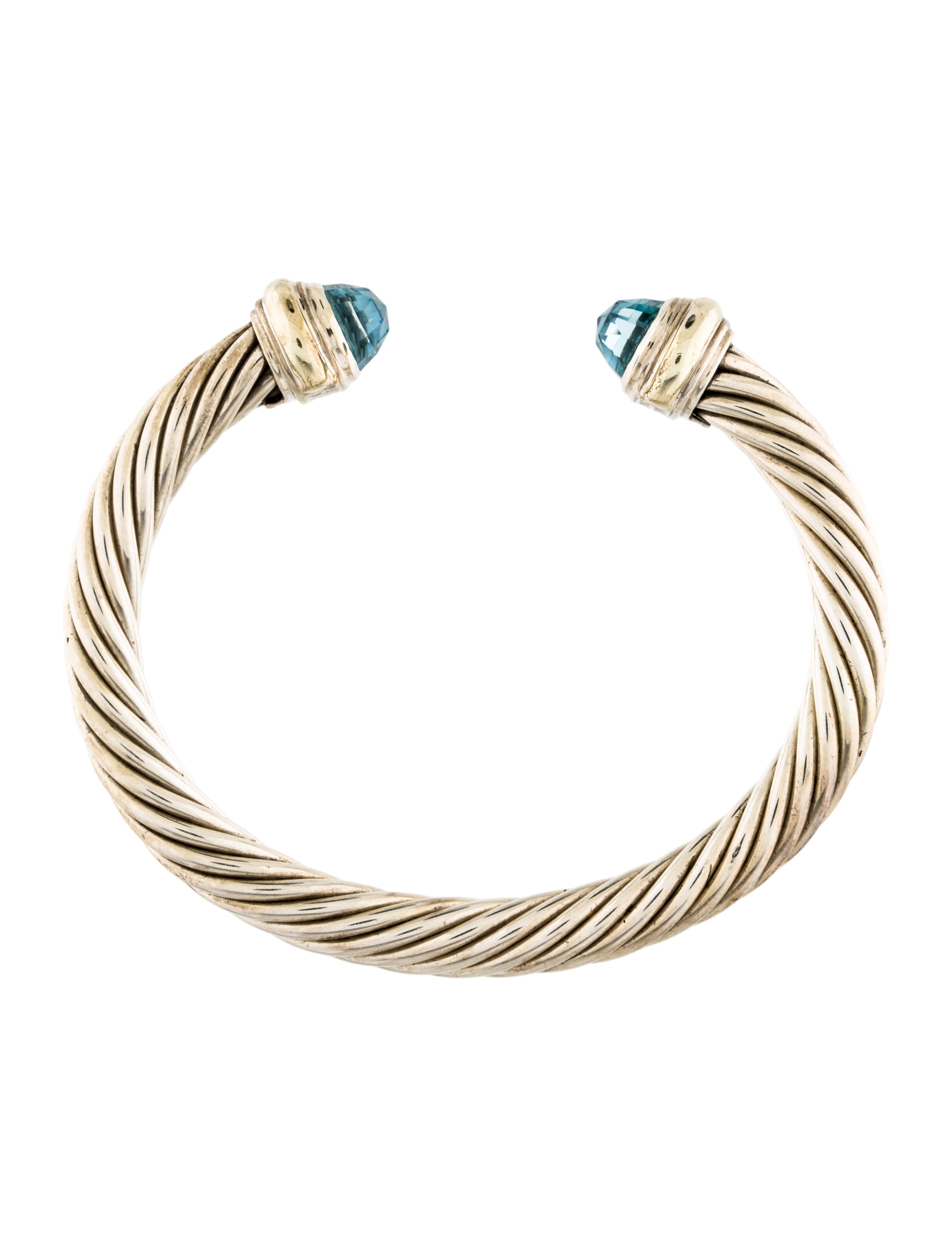 David yurman topaz cable cuff bracelet bracelets for David yurman inspired bracelet cable